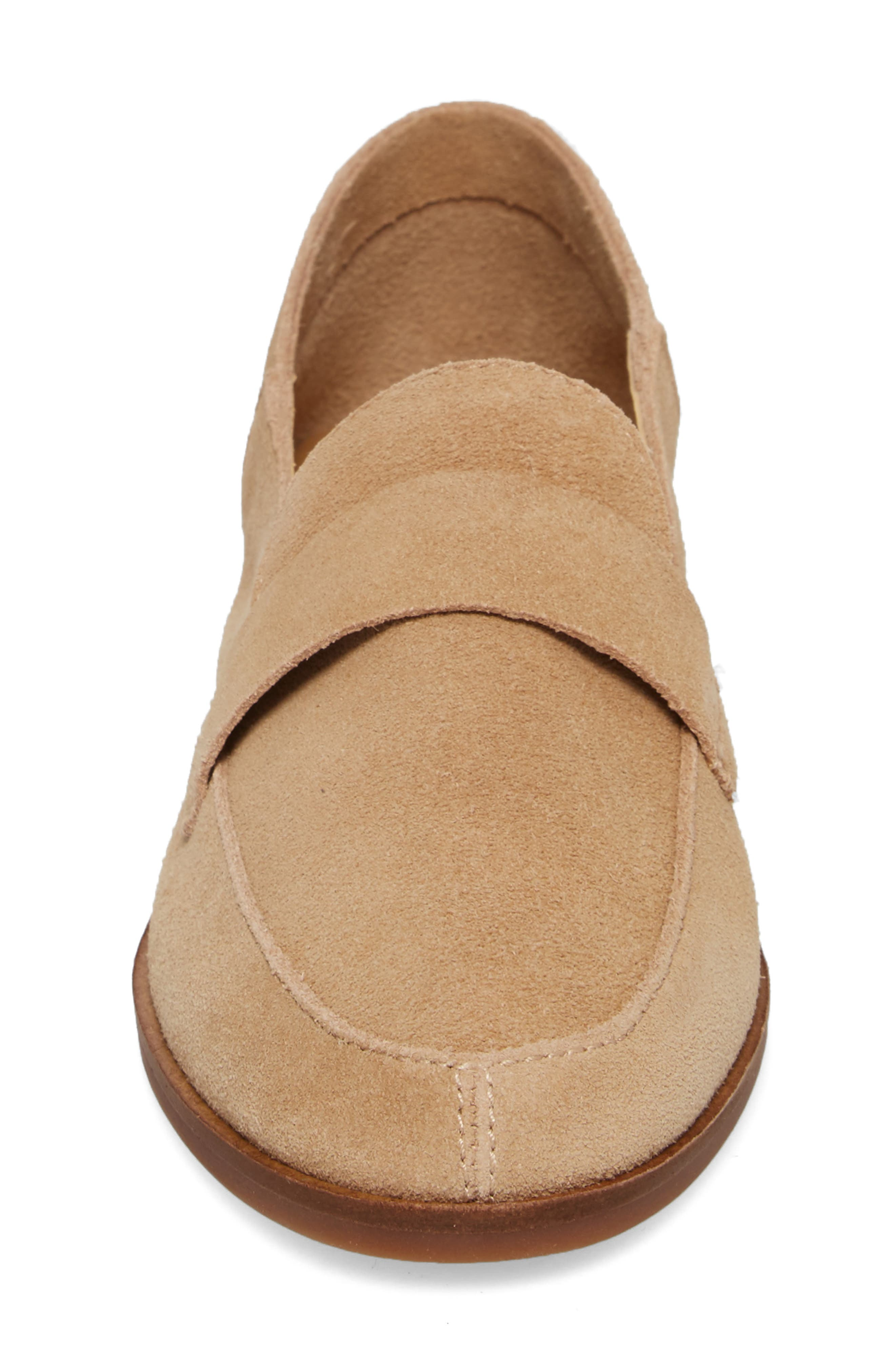 Chennie Loafer,                             Alternate thumbnail 4, color,                             Travertine Suede