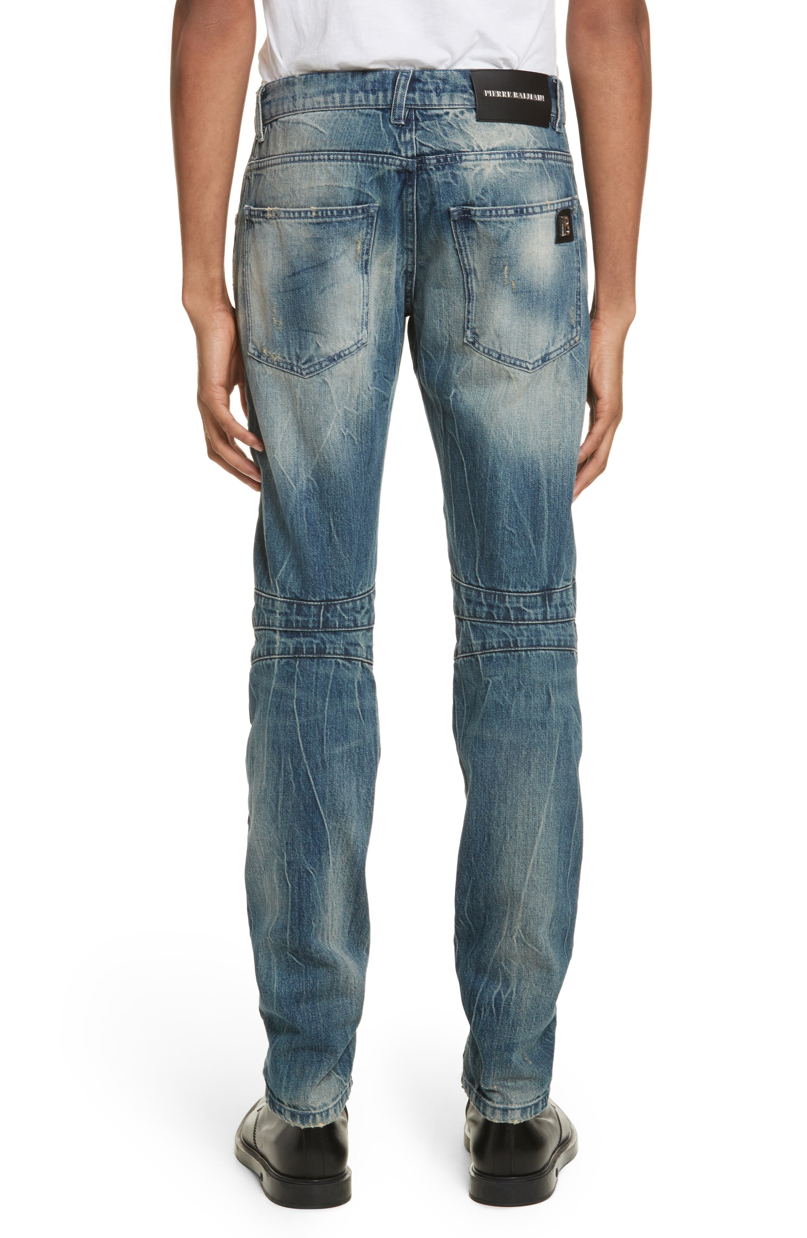 Biker Jeans,                             Alternate thumbnail 2, color,                             Denim Blue