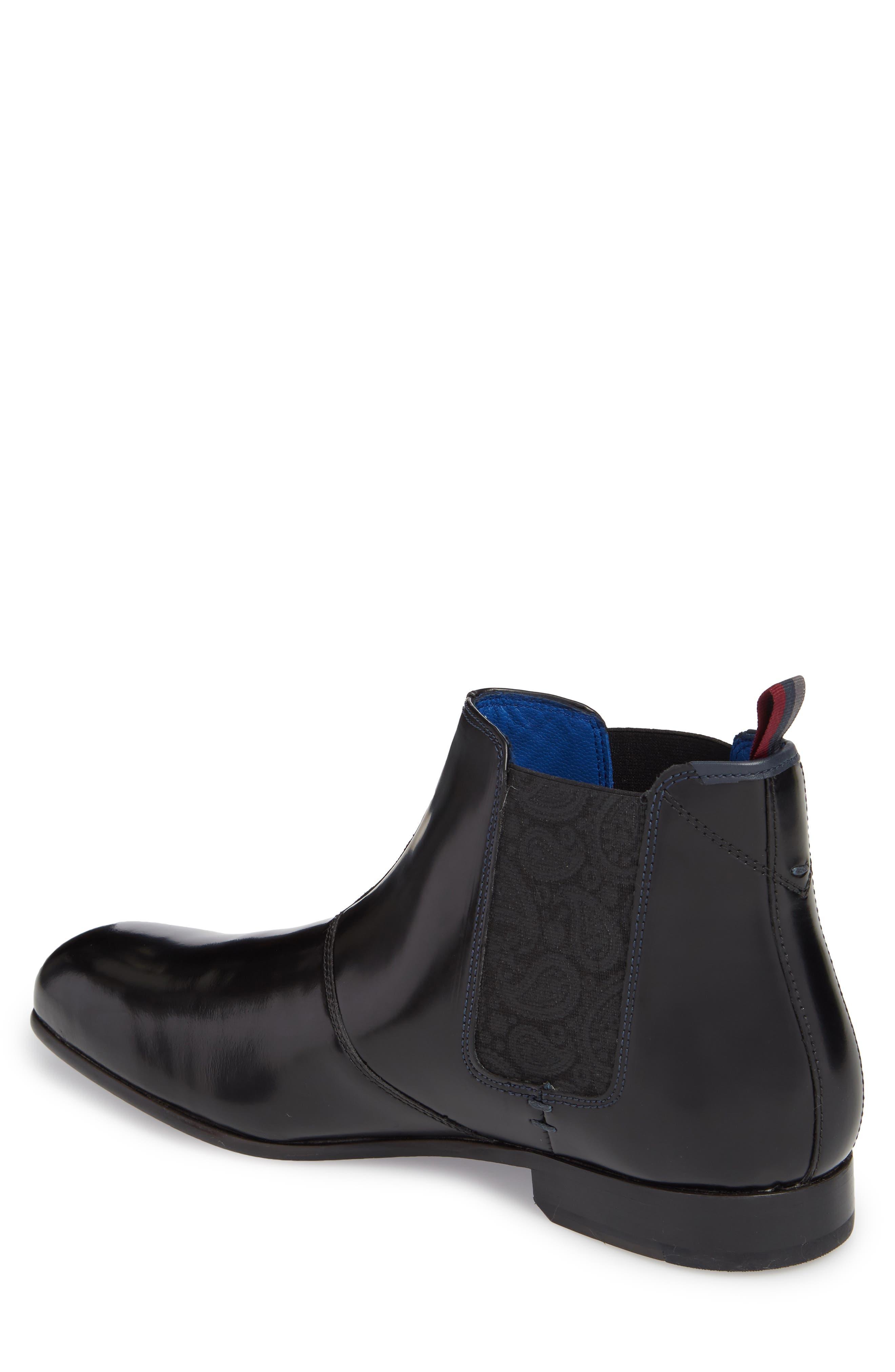 Auldham Chelsea Boot,                             Alternate thumbnail 2, color,                             Black Leather