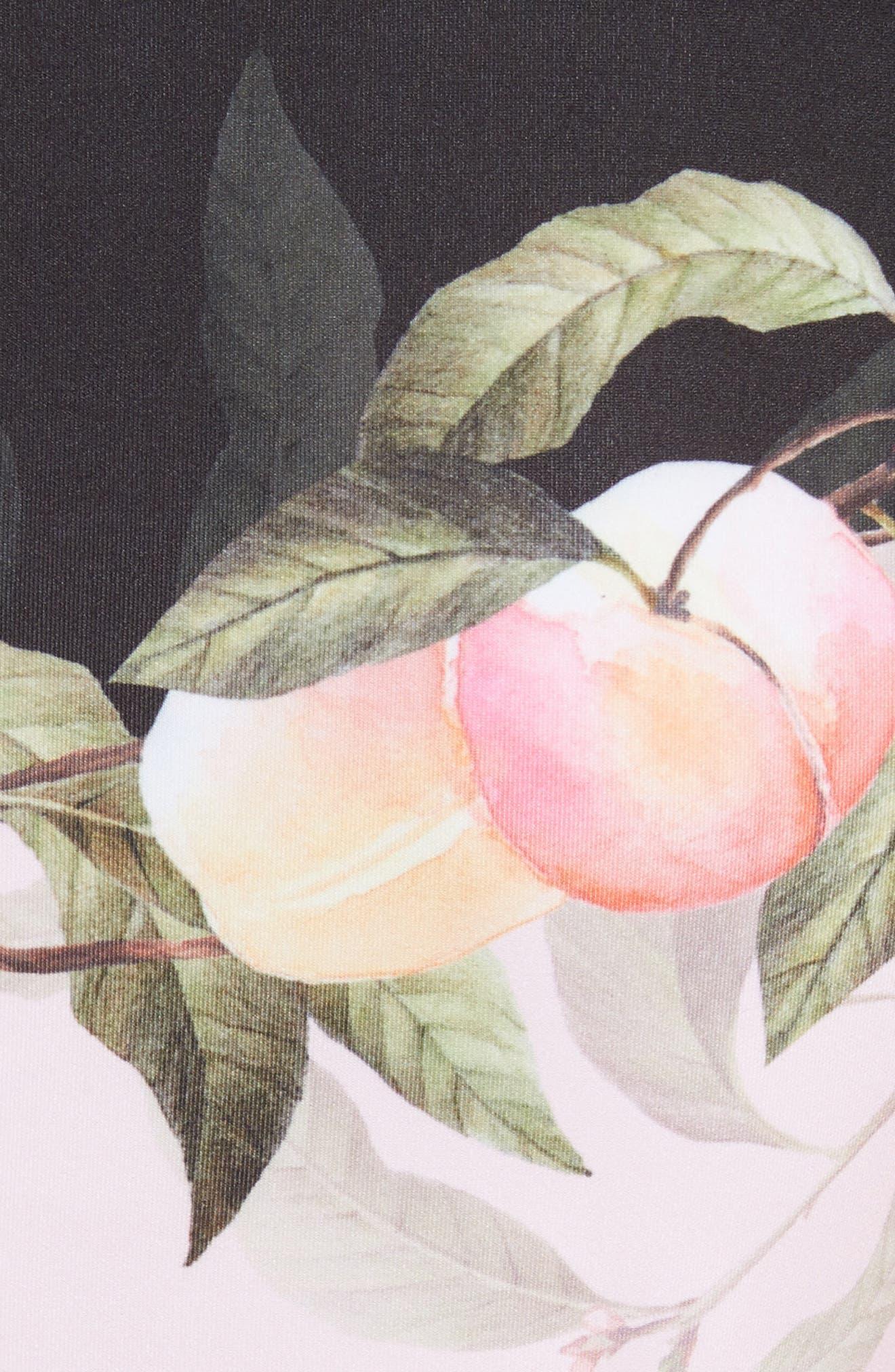 Peach Blossom Jersey Skater Dress,                             Alternate thumbnail 5, color,                             Light Pink