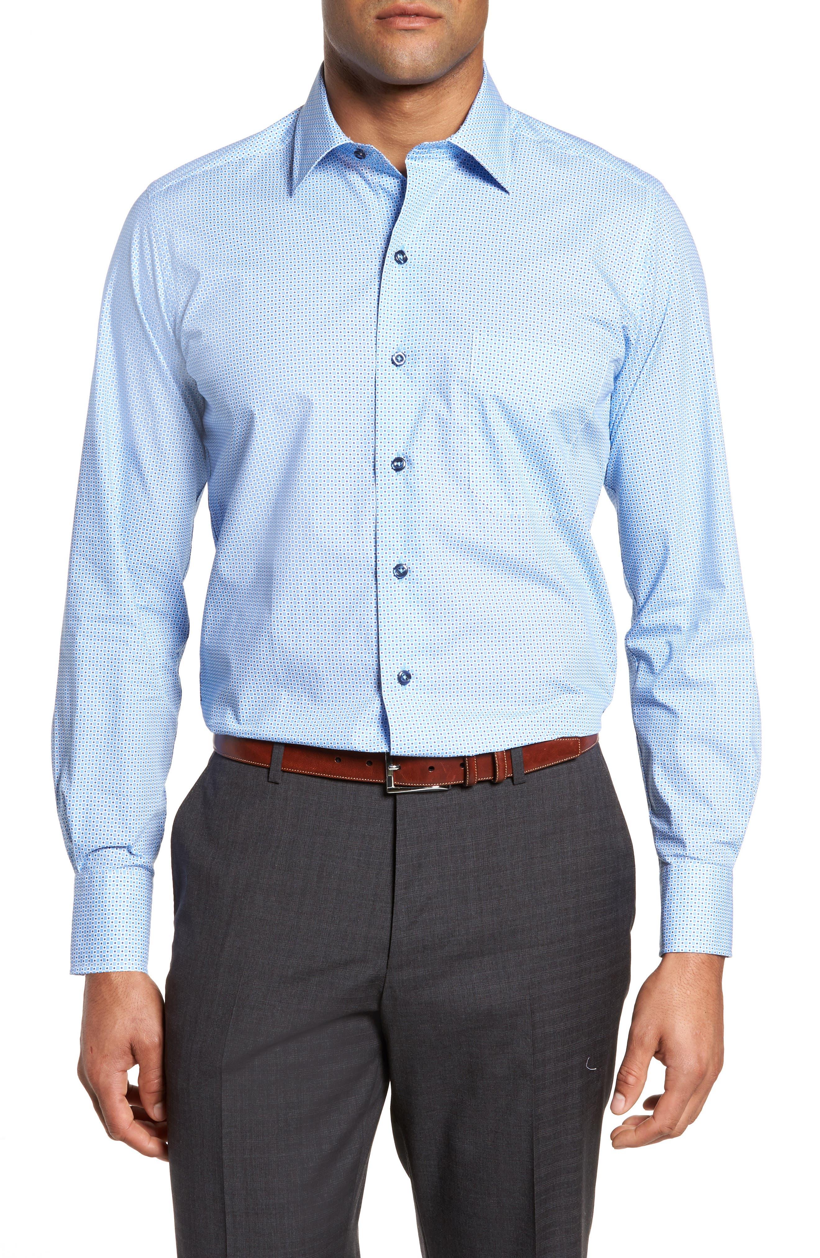 Print Sport Shirt,                         Main,                         color, Blue