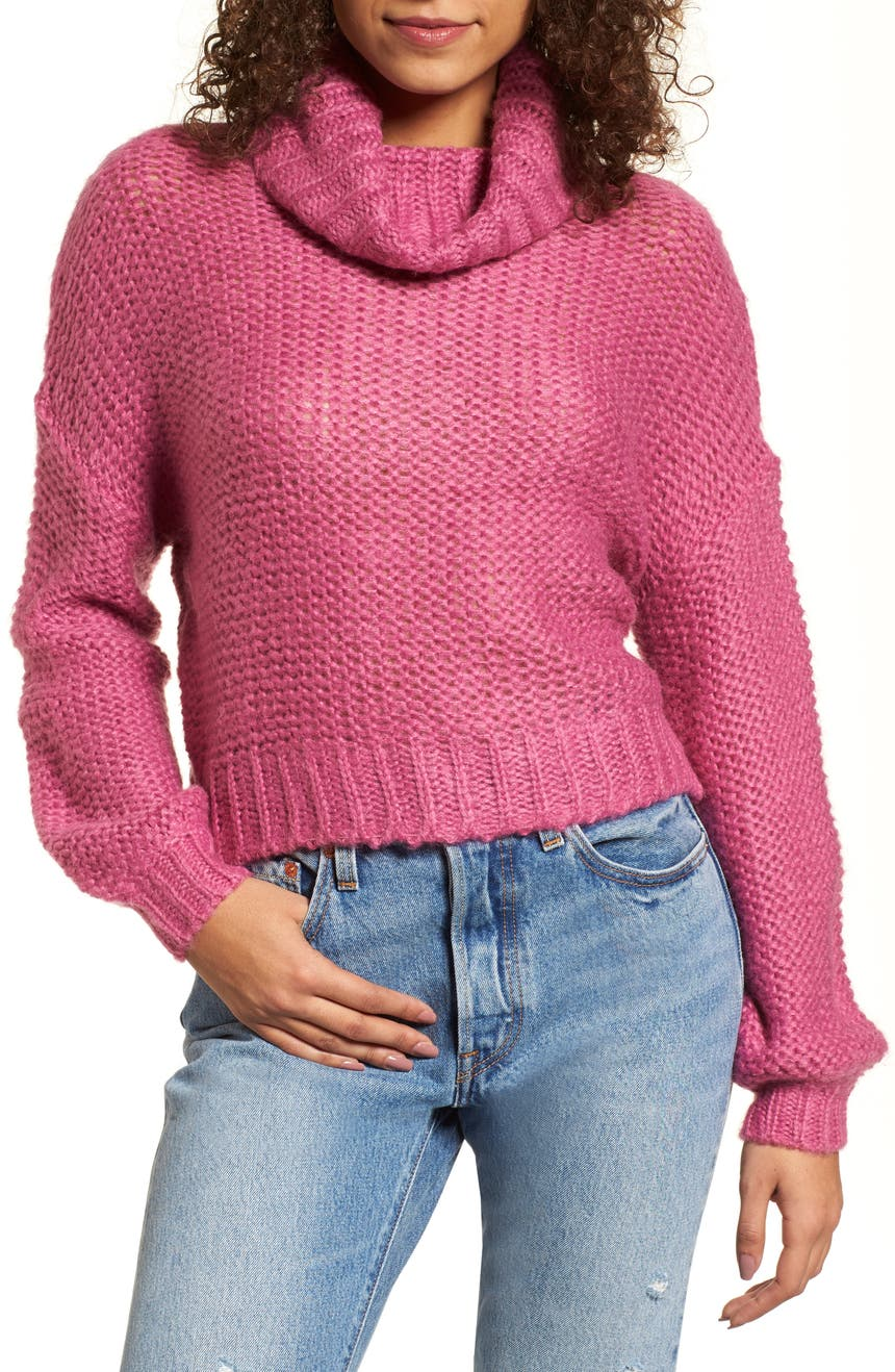Women's Pink Turtleneck Sweaters | Nordstrom