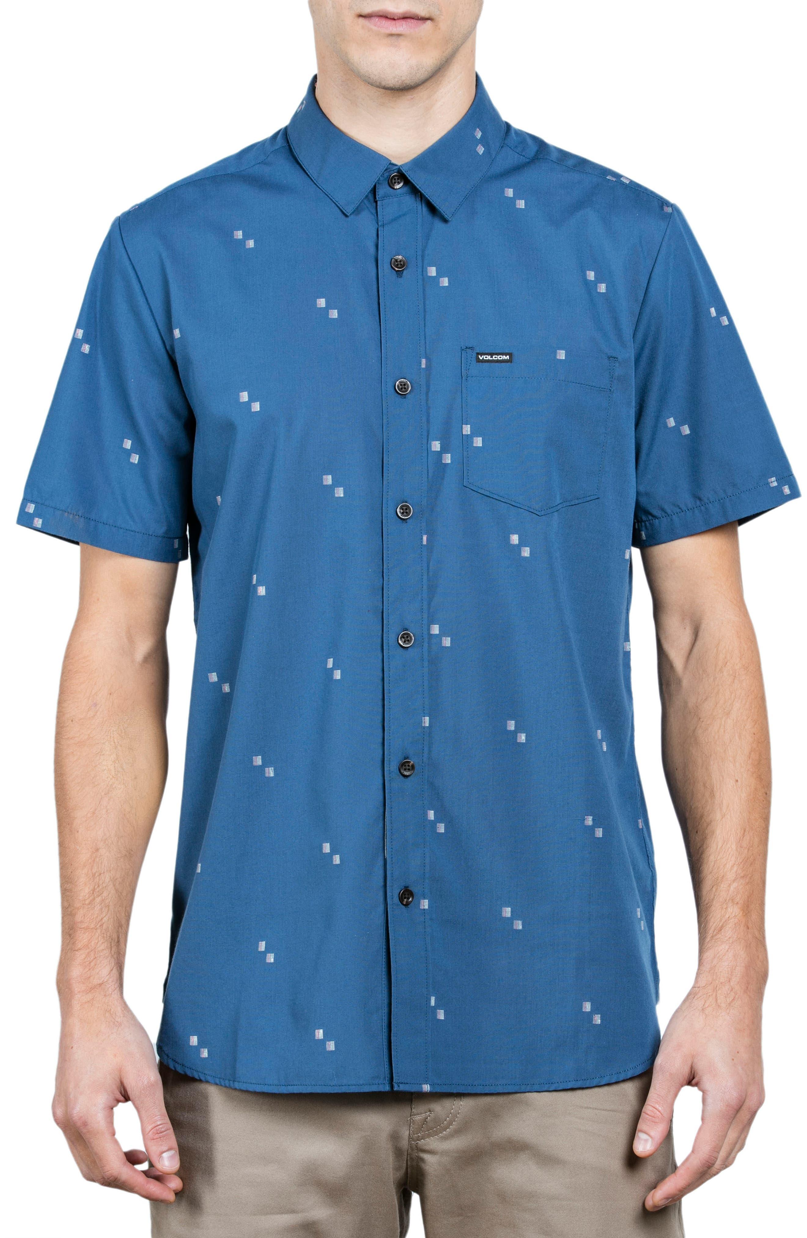 Floyd Woven Shirt,                         Main,                         color, Blue Smoke