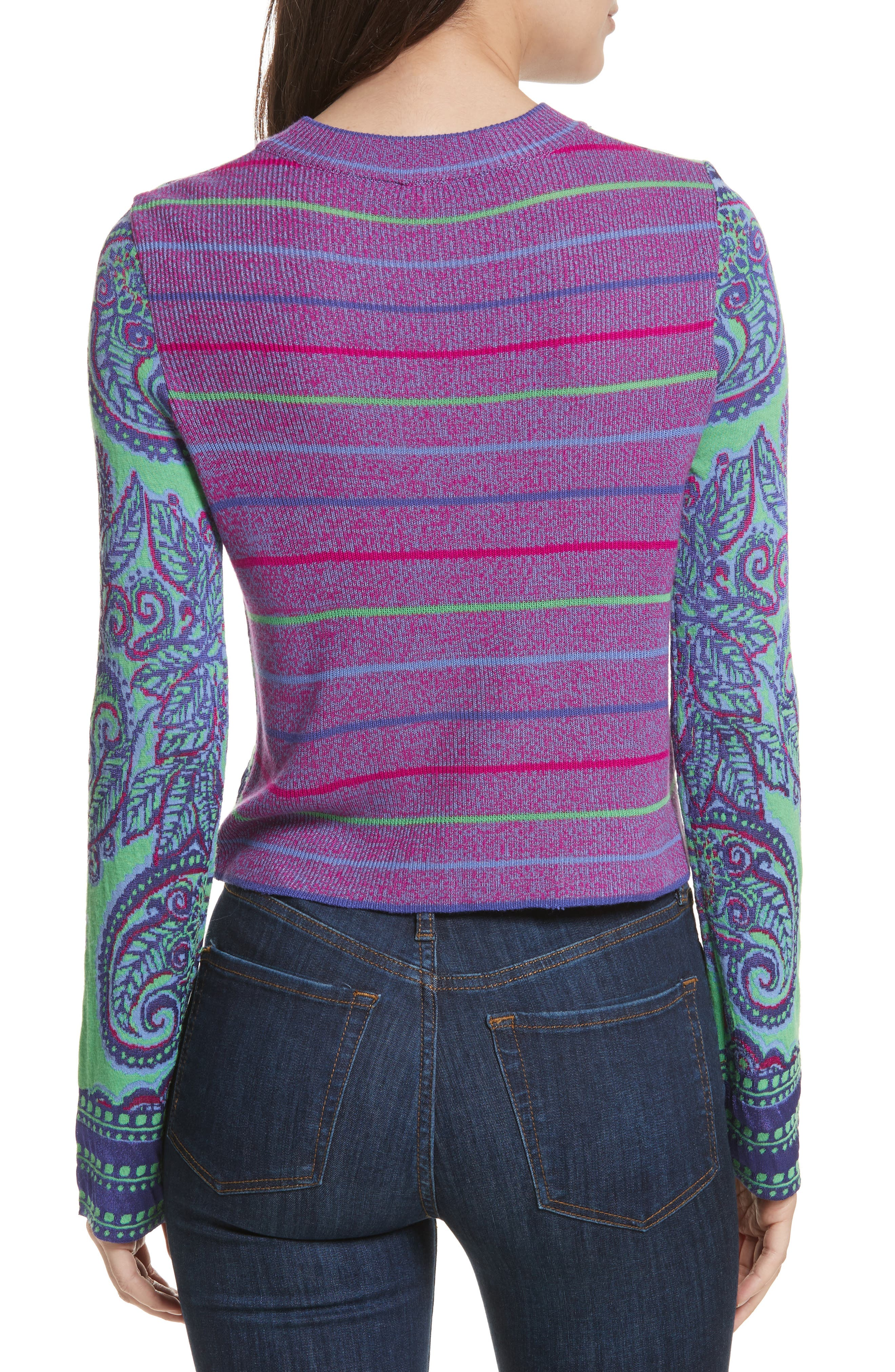 New Age Crewneck Sweater,                             Alternate thumbnail 3, color,                             Multi