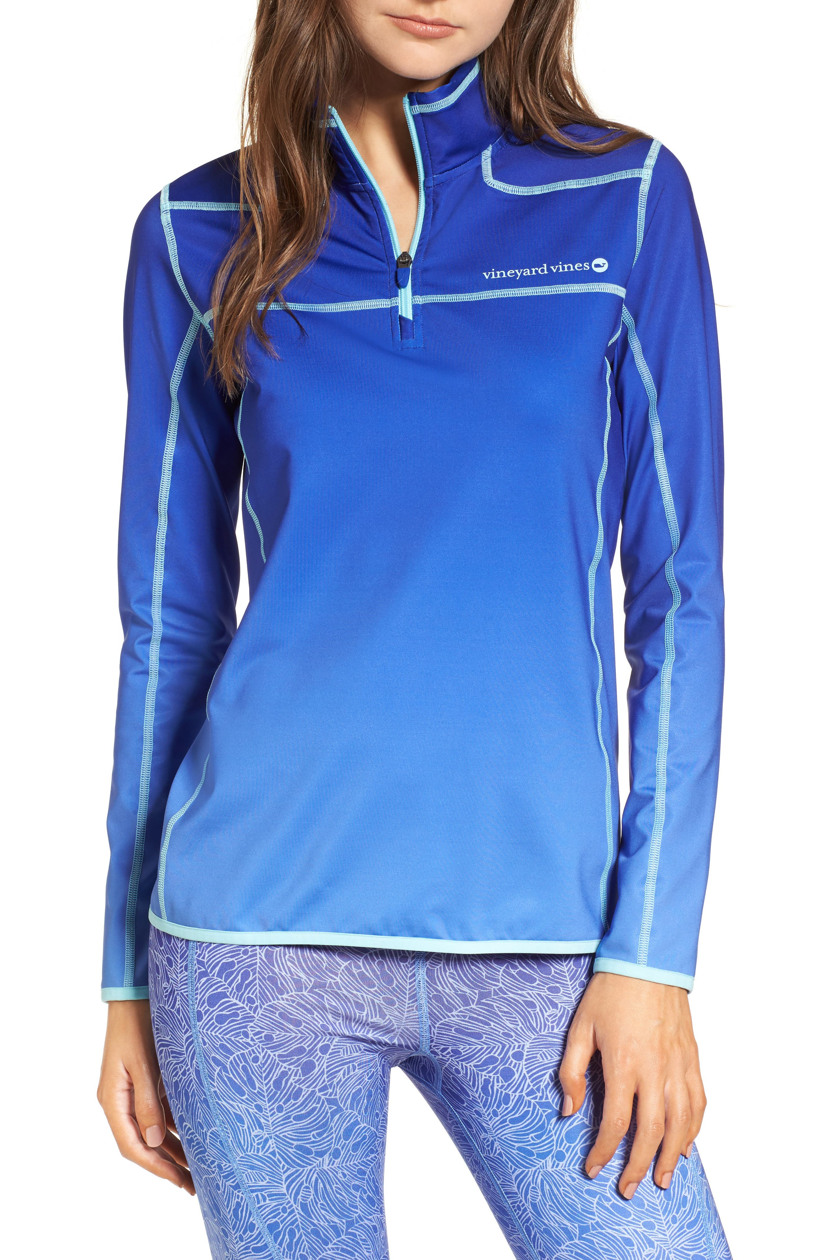 Performance Ombré Shep Shirt,                         Main,                         color, Socialite Blue