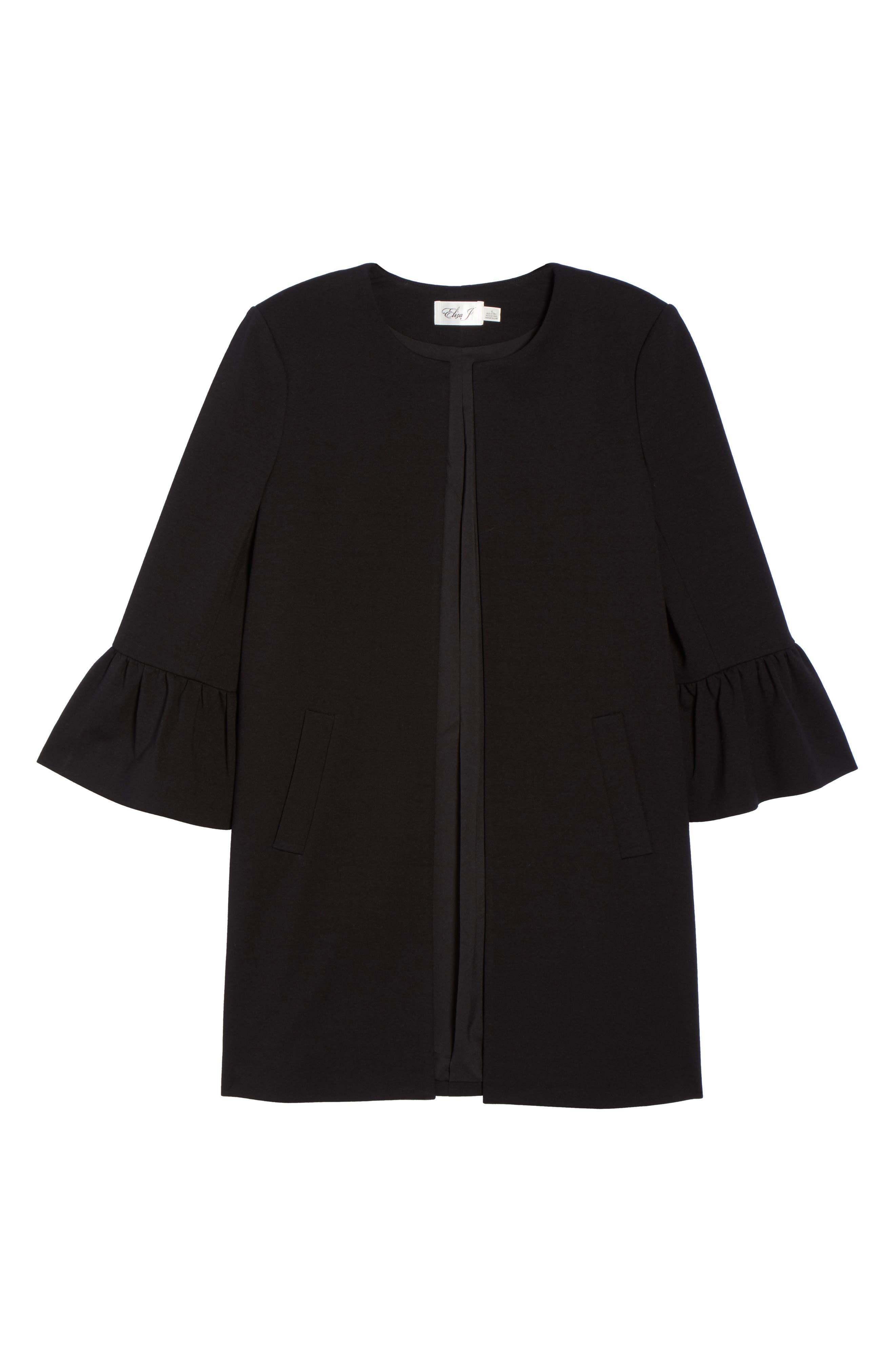 Alternate Image 6  - Eliza J Longline Bell Sleeve Jacket
