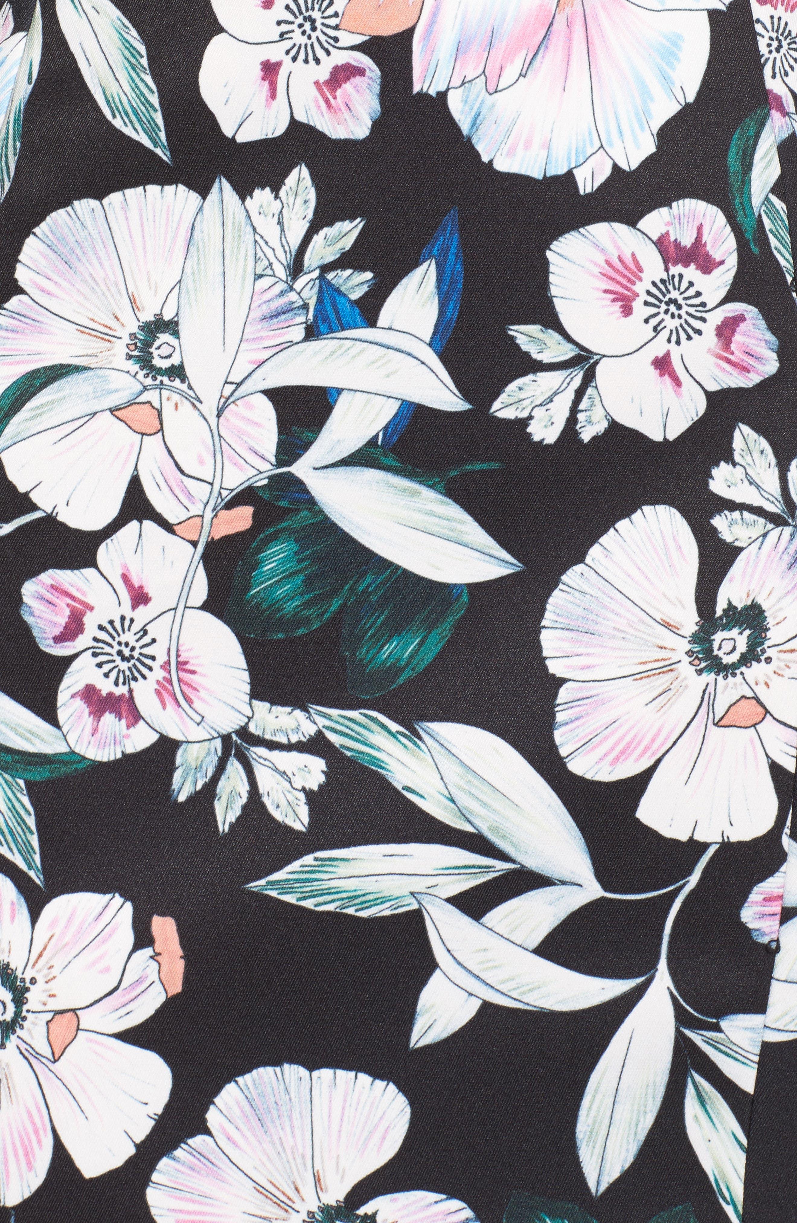Whimsical Blooms Strapless Dress,                             Alternate thumbnail 5, color,                             Print