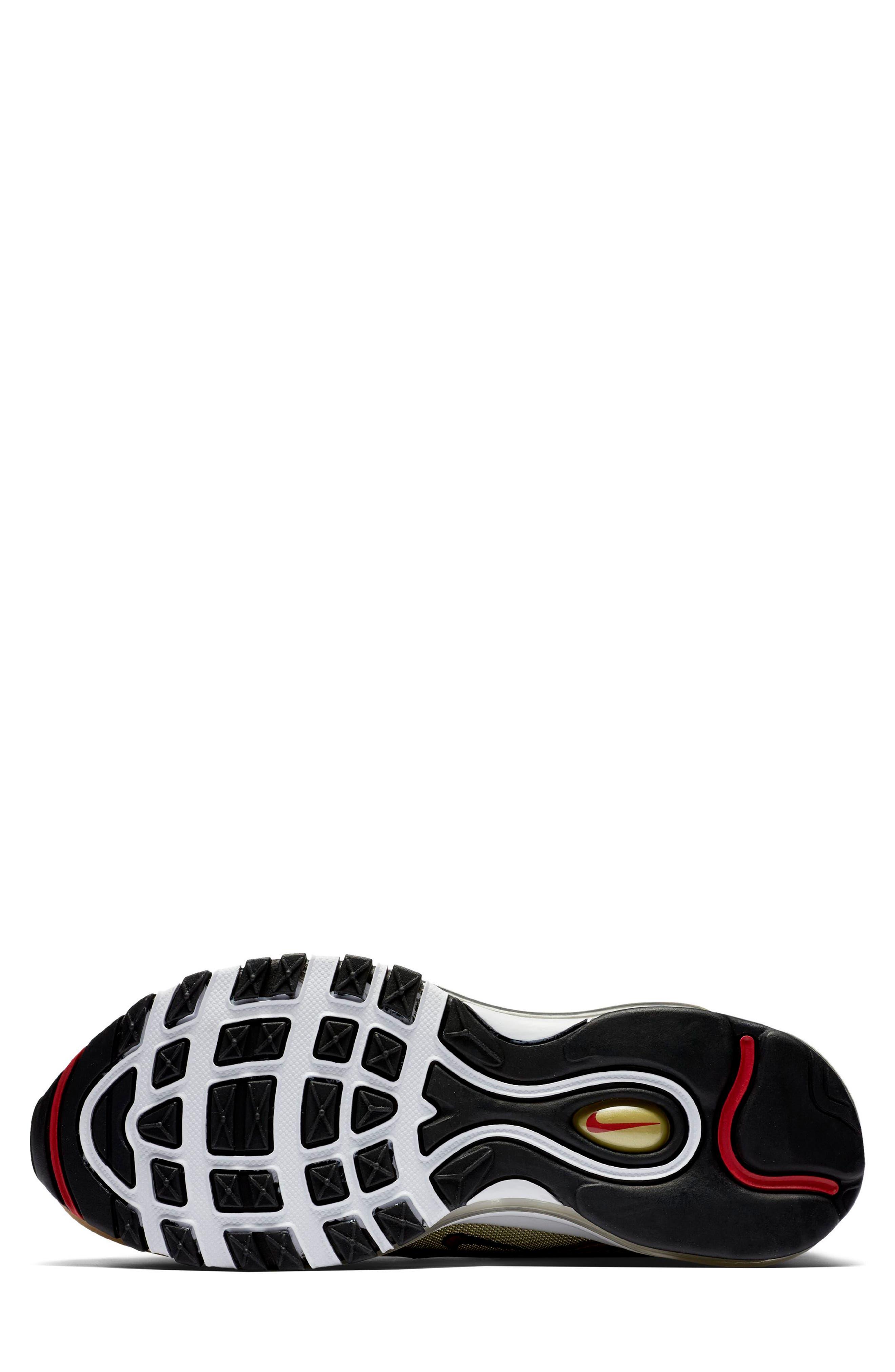 Air Max 97 OG Sneaker,                             Alternate thumbnail 6, color,                             Gold/ Red/ White/ Black