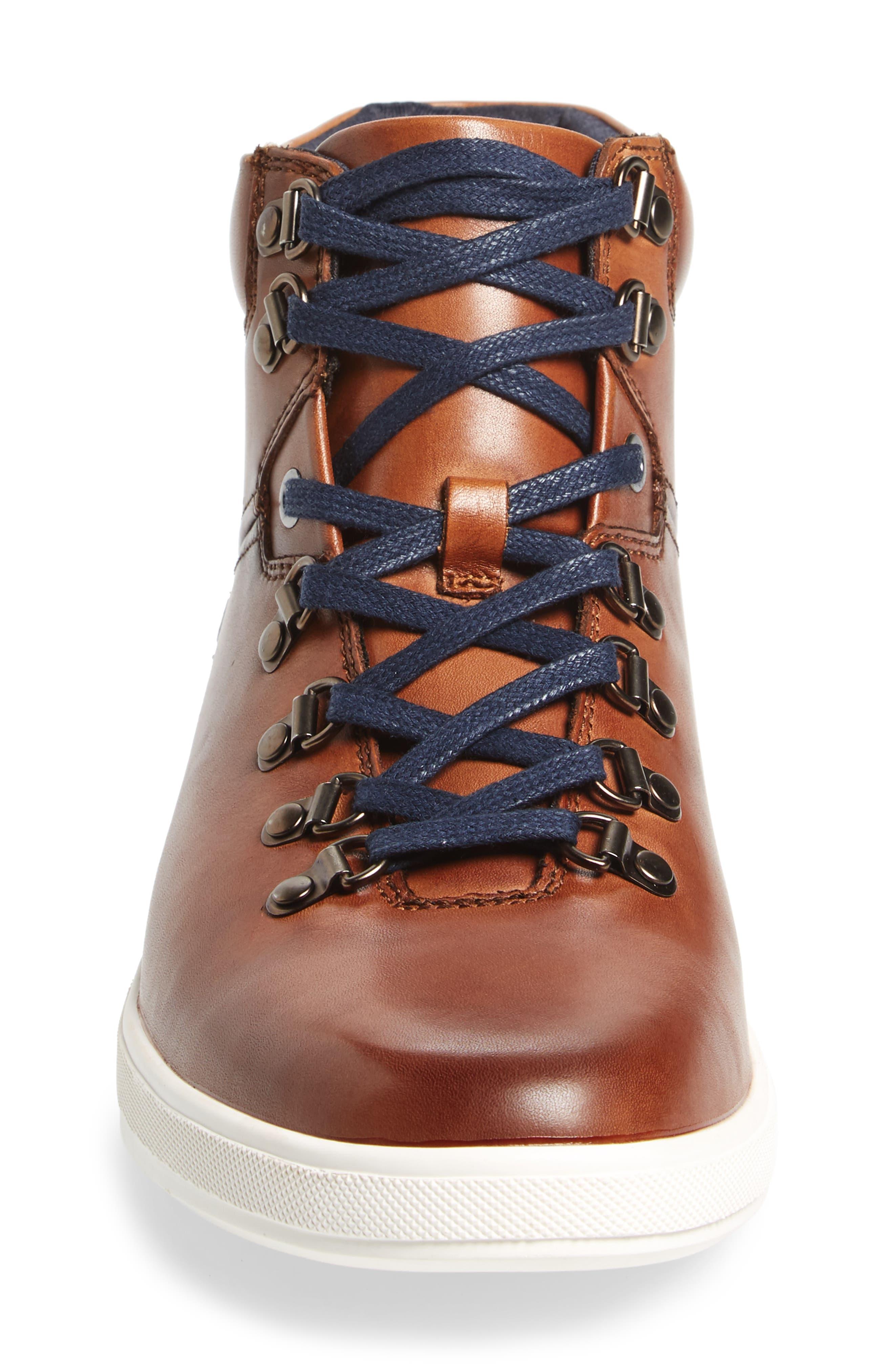 Slow Joe Mid Top Sneaker,                             Alternate thumbnail 4, color,                             Tan Leather
