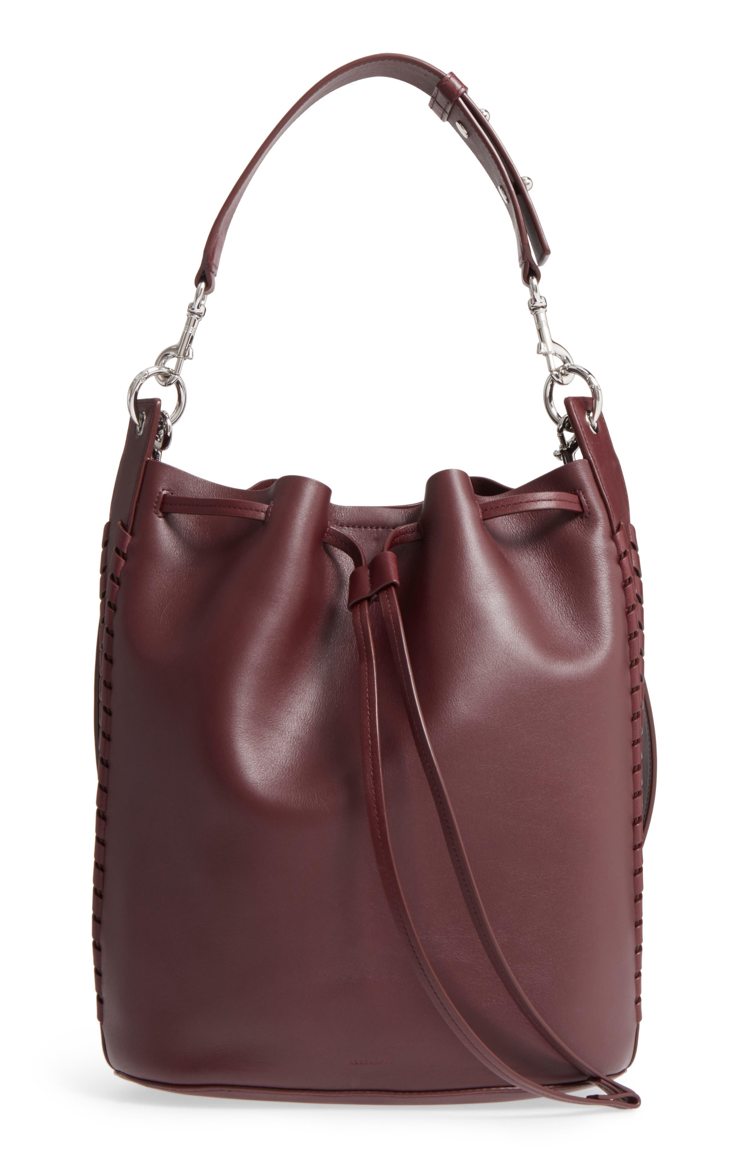 ALLSAINTS Ray Lea Leather Bucket Bag