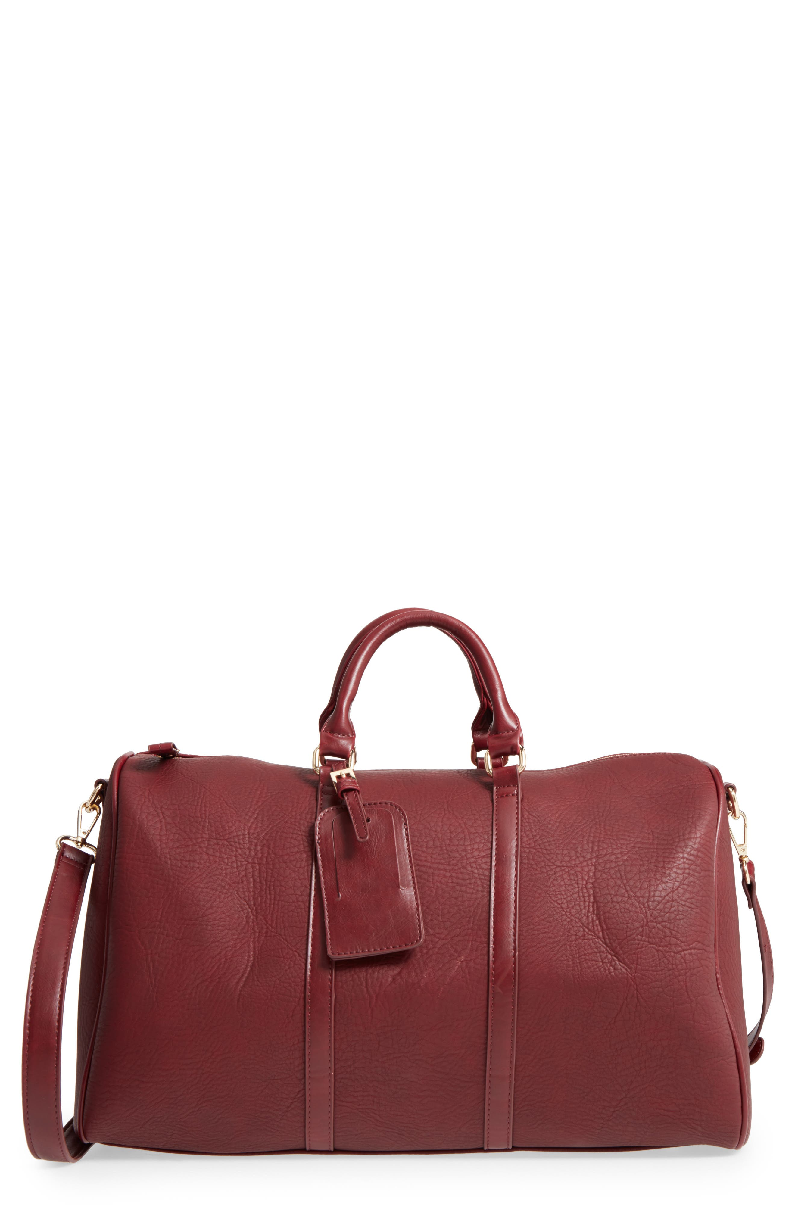 Alternate Image 1 Selected - Sole Society 'Cassidy' Faux Leather Duffel Bag