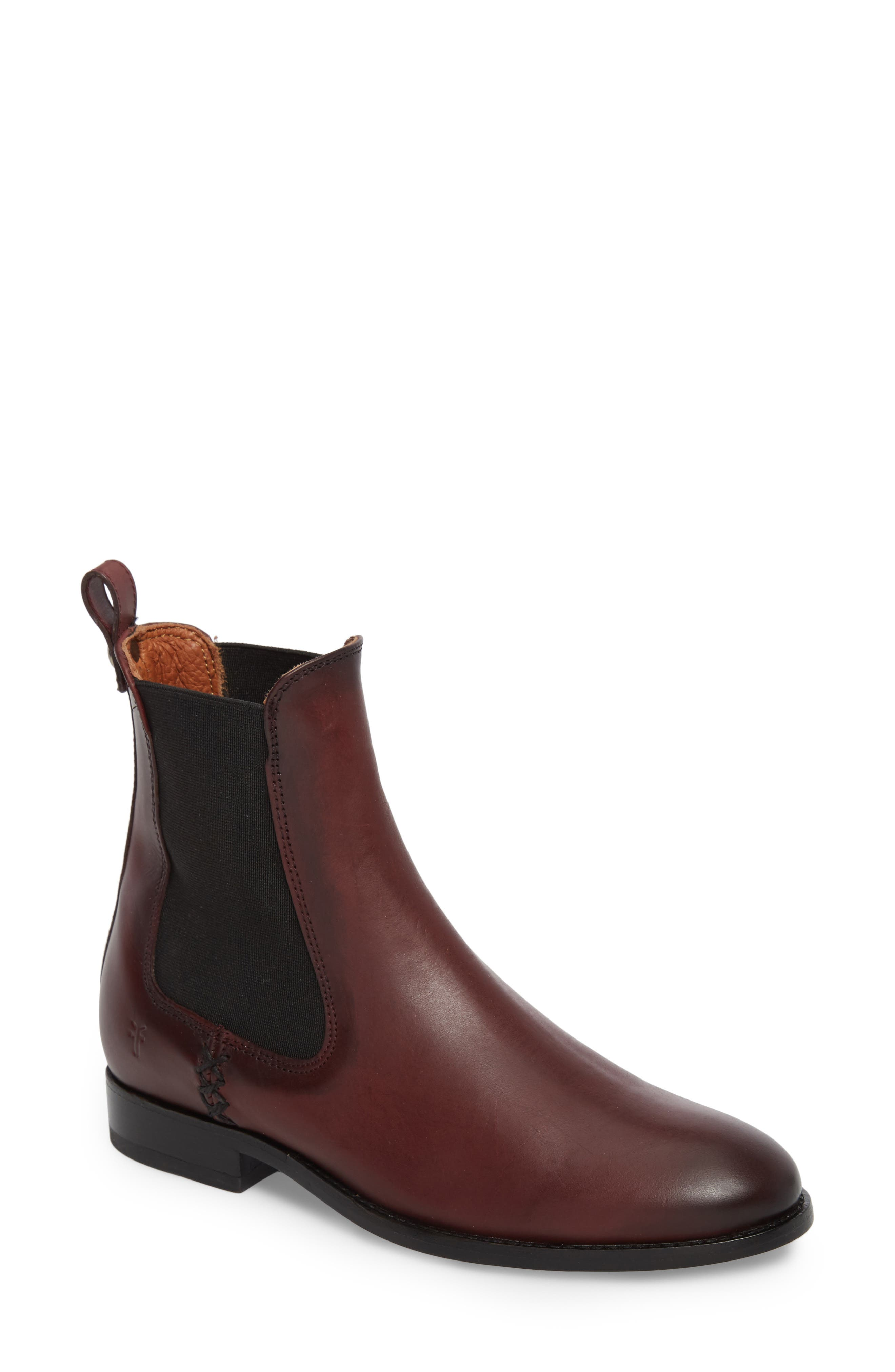 Melissa Chelsea Boot,                             Main thumbnail 1, color,                             Wine