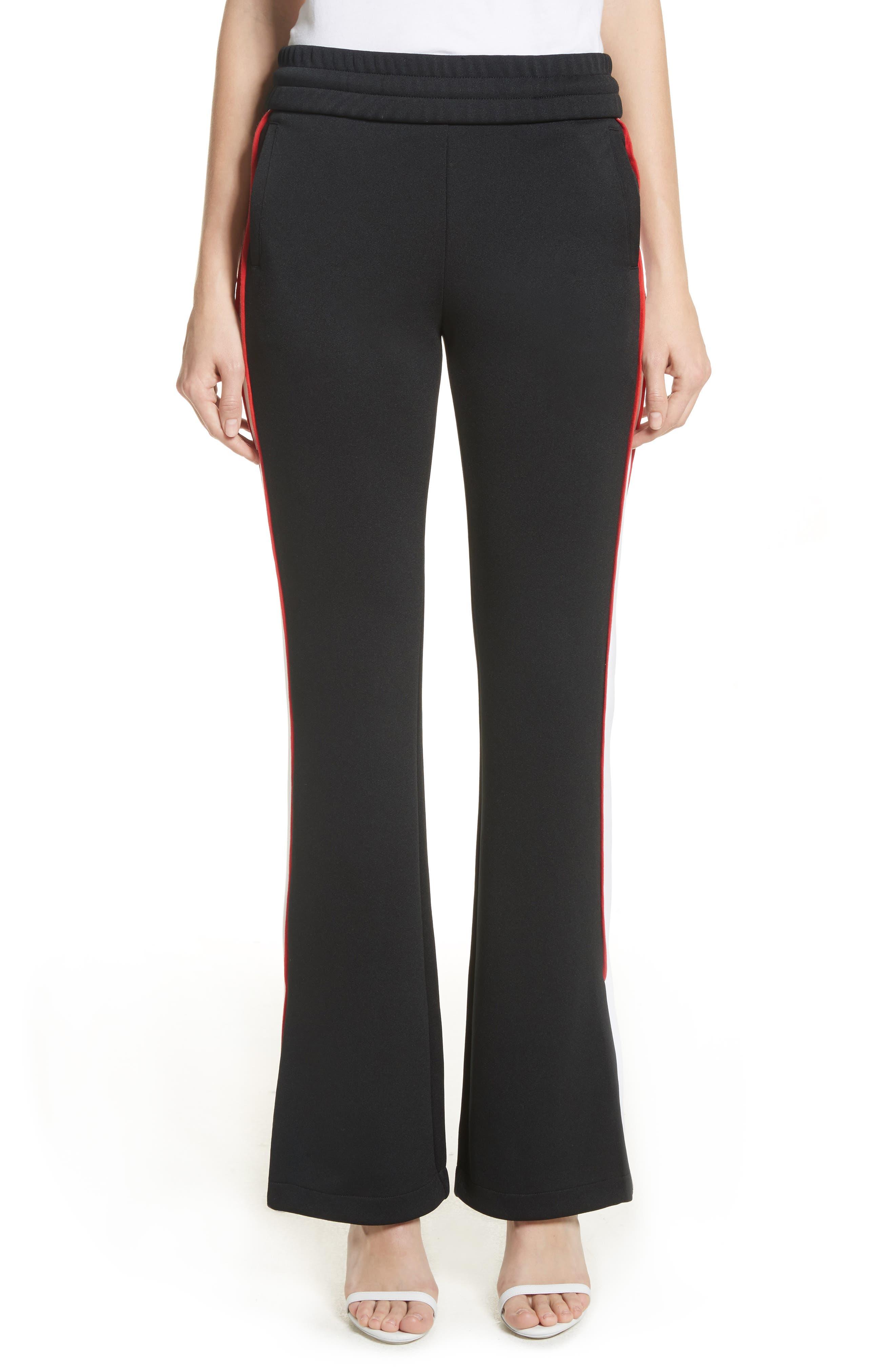 Flare Leg Track Pants,                         Main,                         color, Black/ No Color