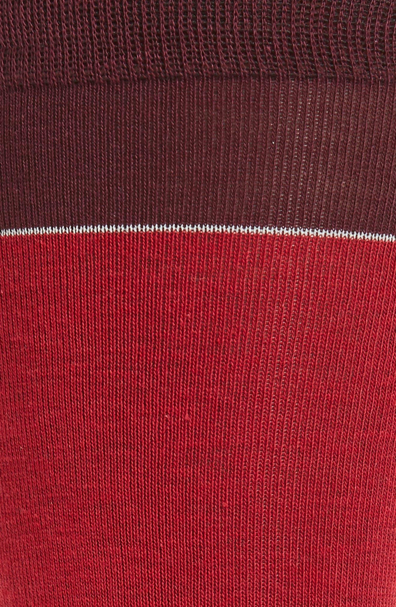 Stripe Socks,                             Alternate thumbnail 2, color,                             Graphite Heather/ Red