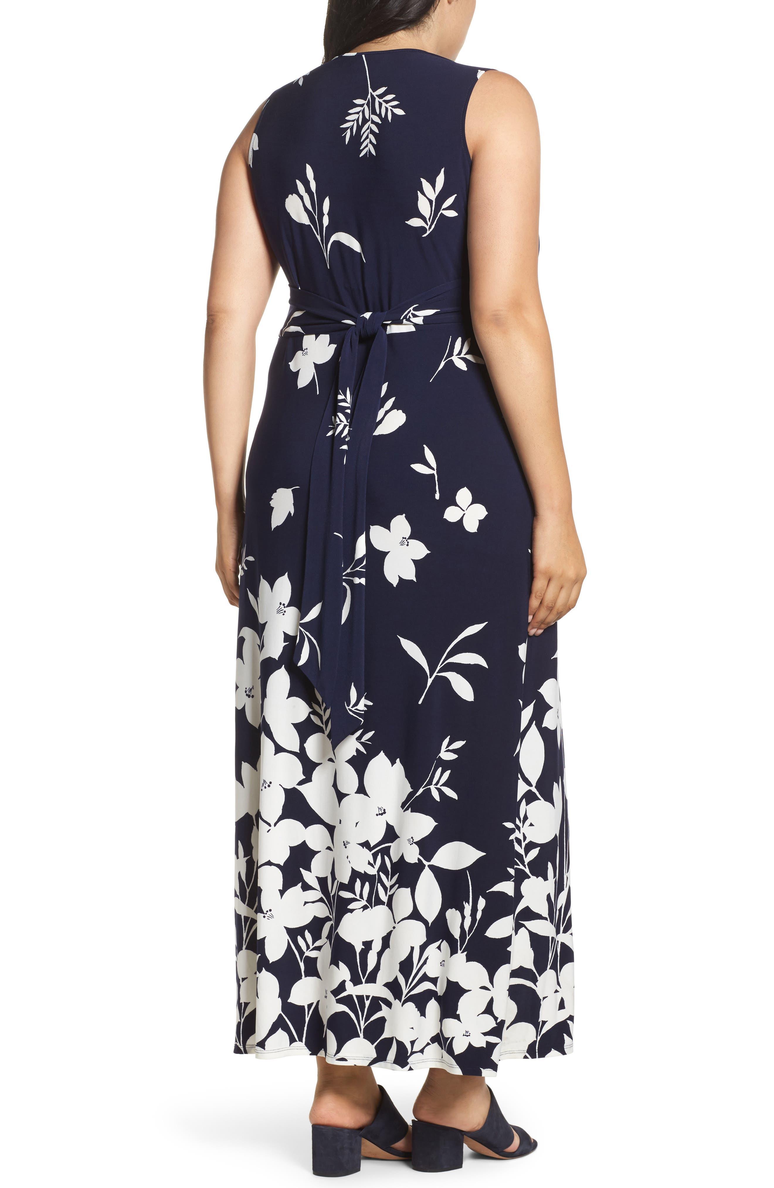 Alternate Image 2  - Eliza J Sleeveless Knot Detail Maxi Dress (Plus Size)