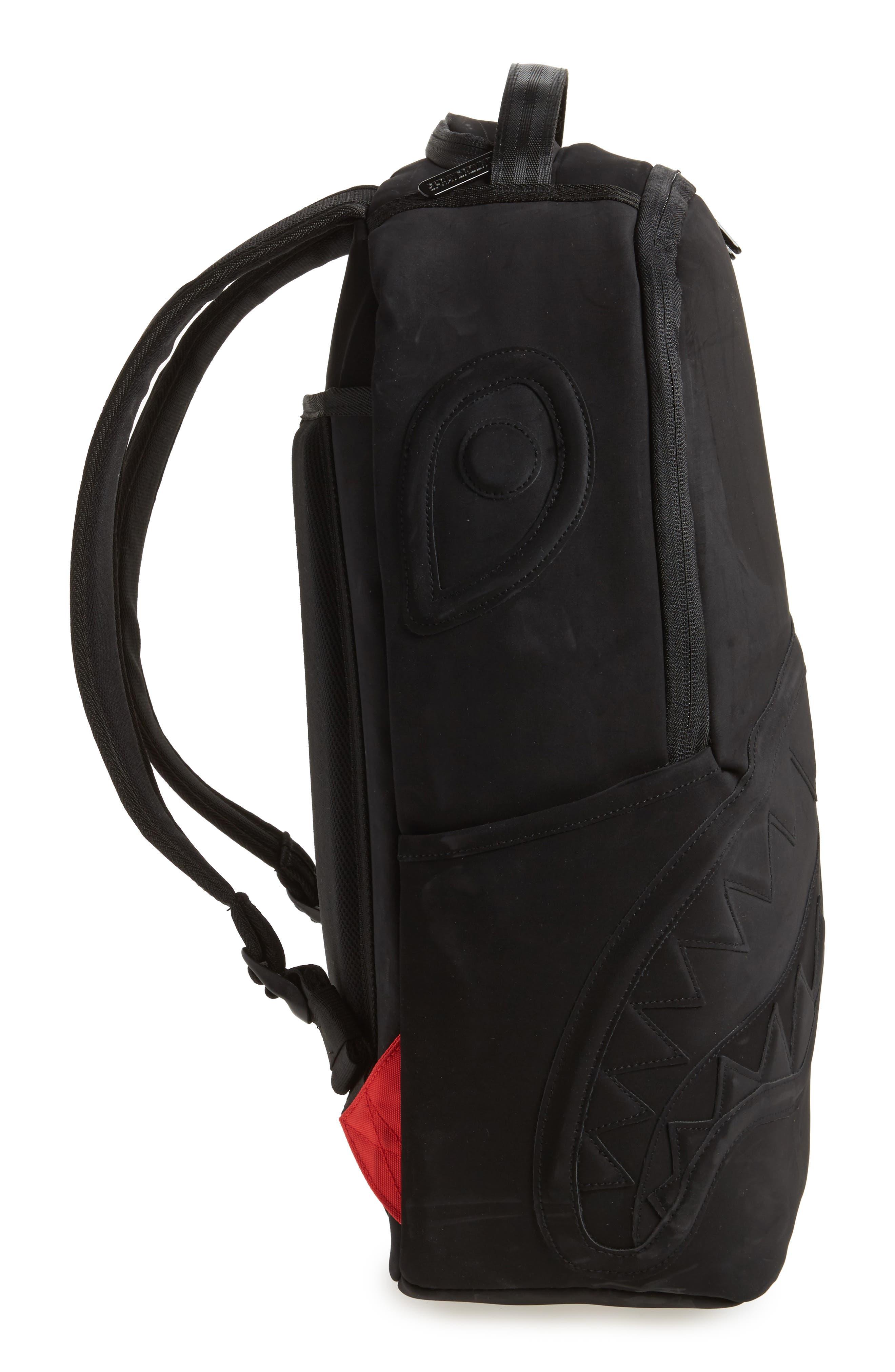 Ghost Shark Backpack,                             Alternate thumbnail 4, color,                             Black