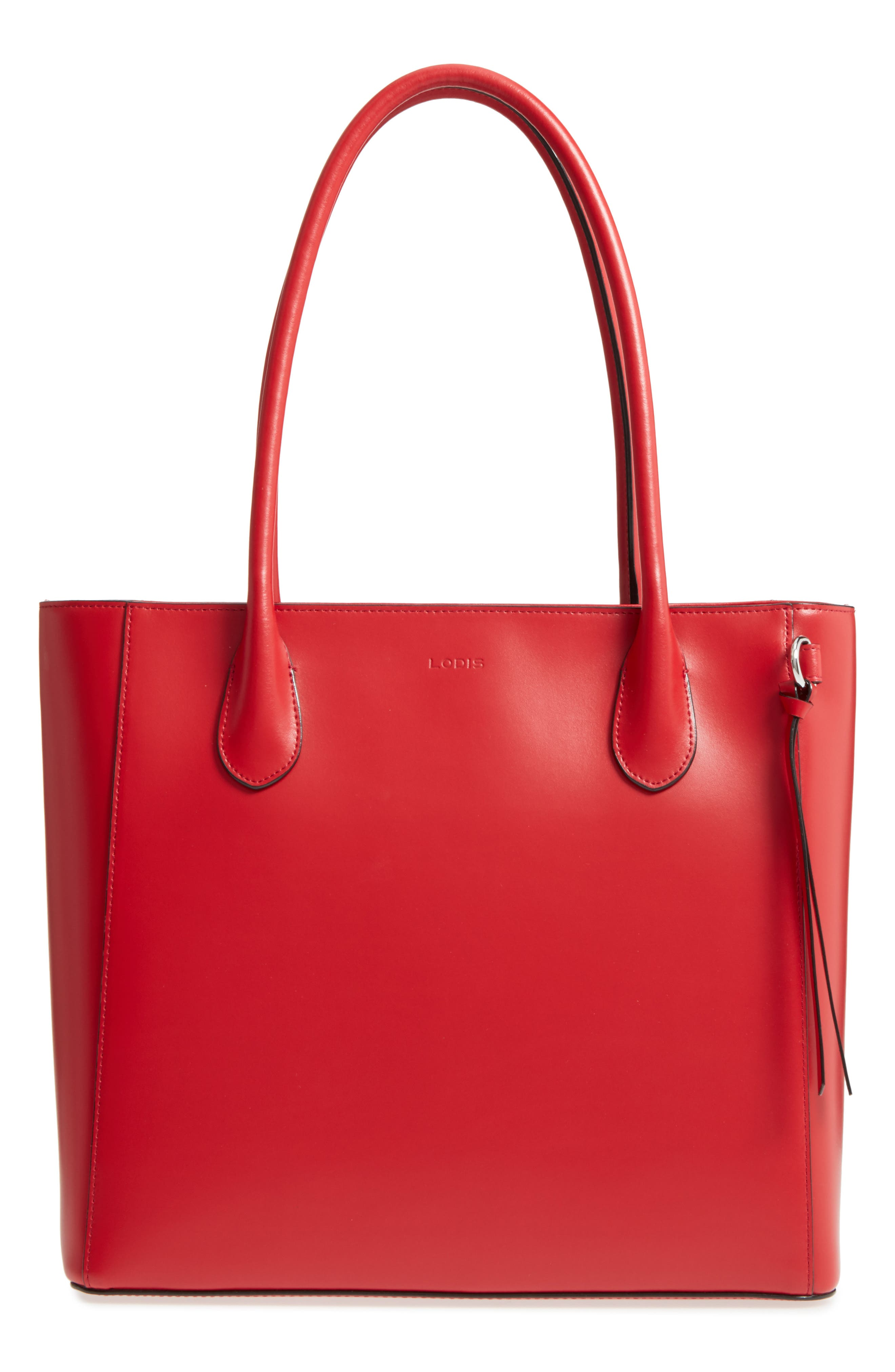 Alternate Image 1 Selected - LODIS Los Angeles Cecily RFID Leather Tote