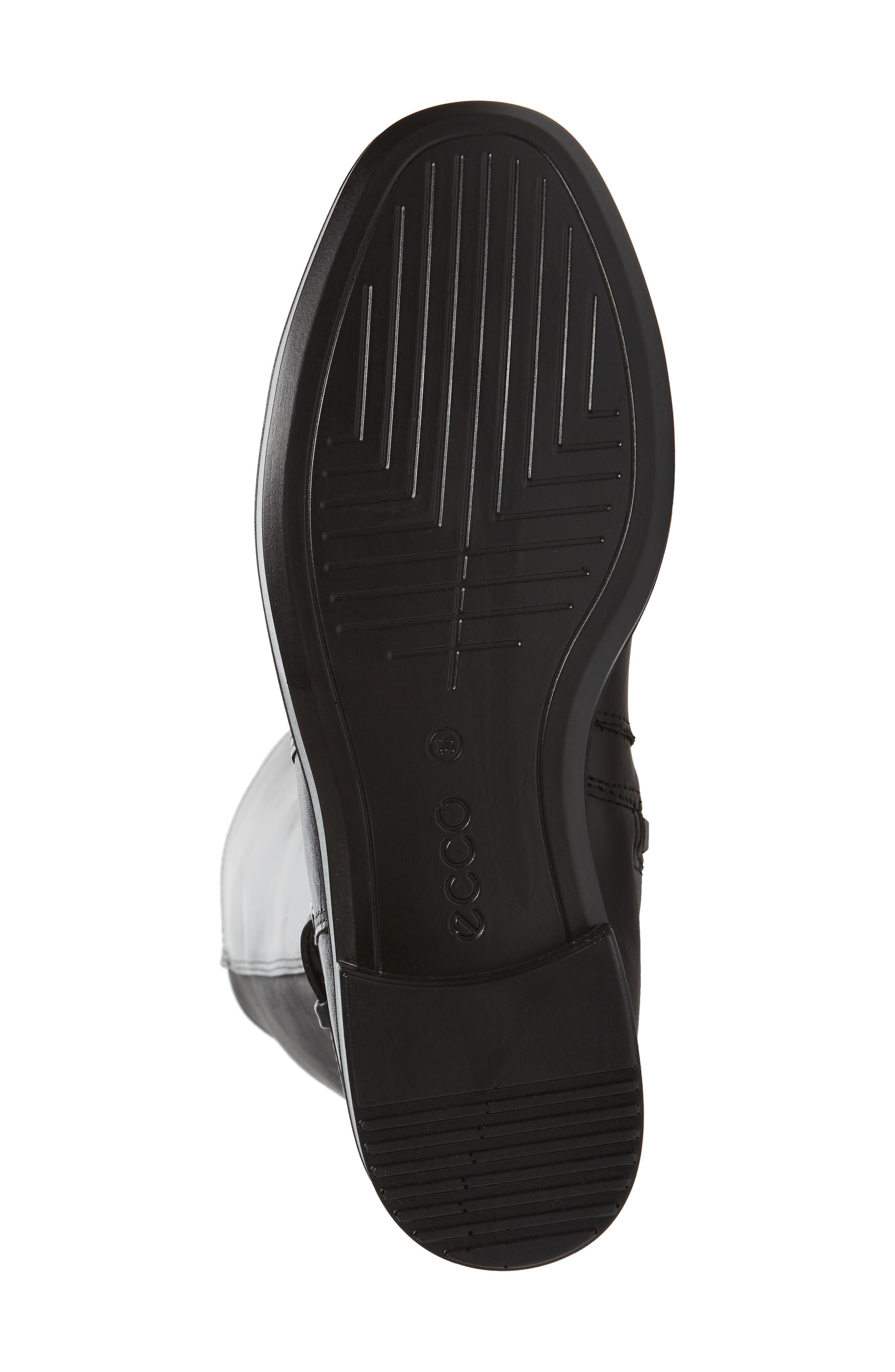Shape 15 Stretch Shaft Riding Boot,                             Alternate thumbnail 6, color,                             Black Leather