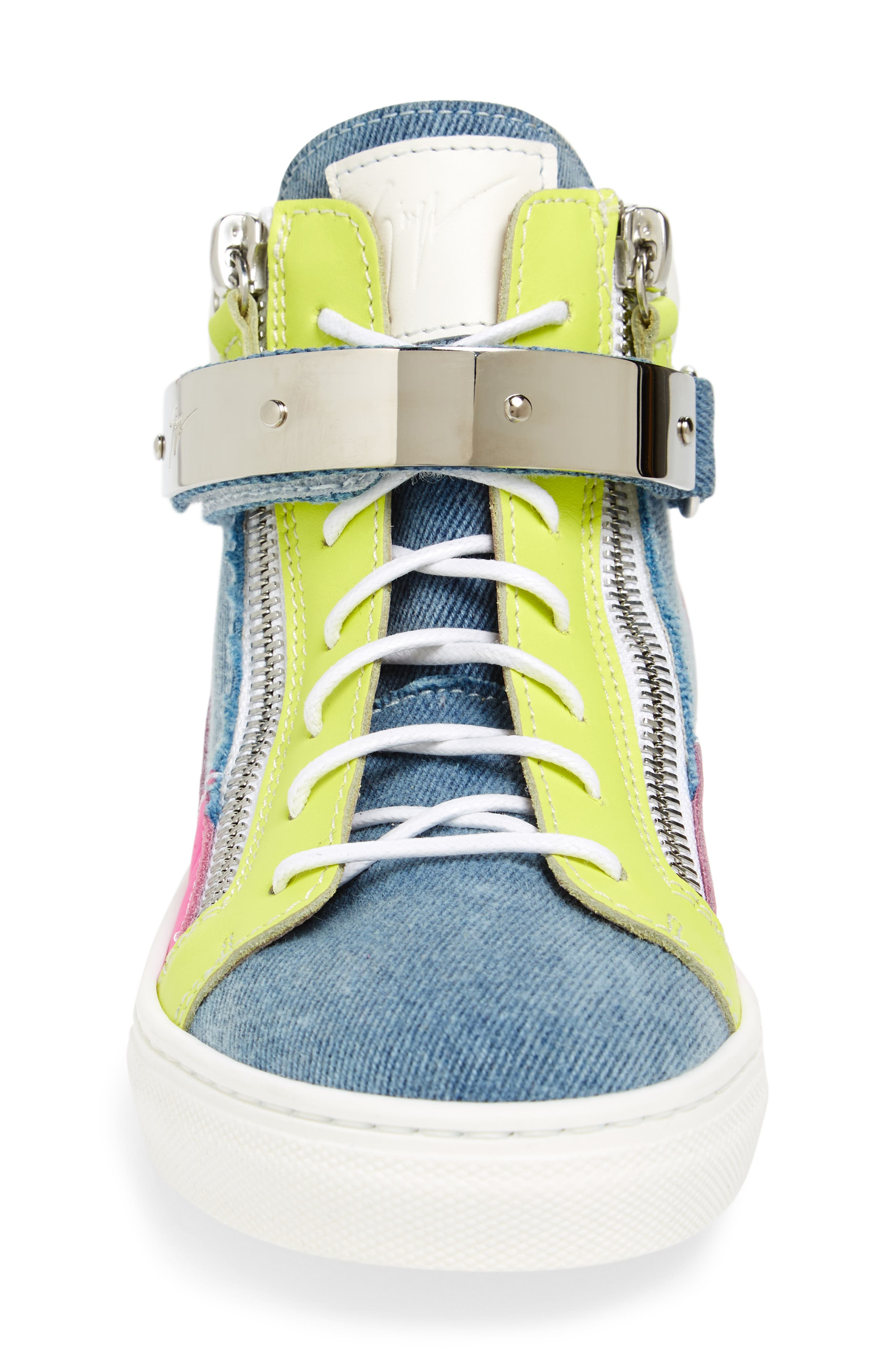 London High Top Sneaker,                             Alternate thumbnail 4, color,                             Multi