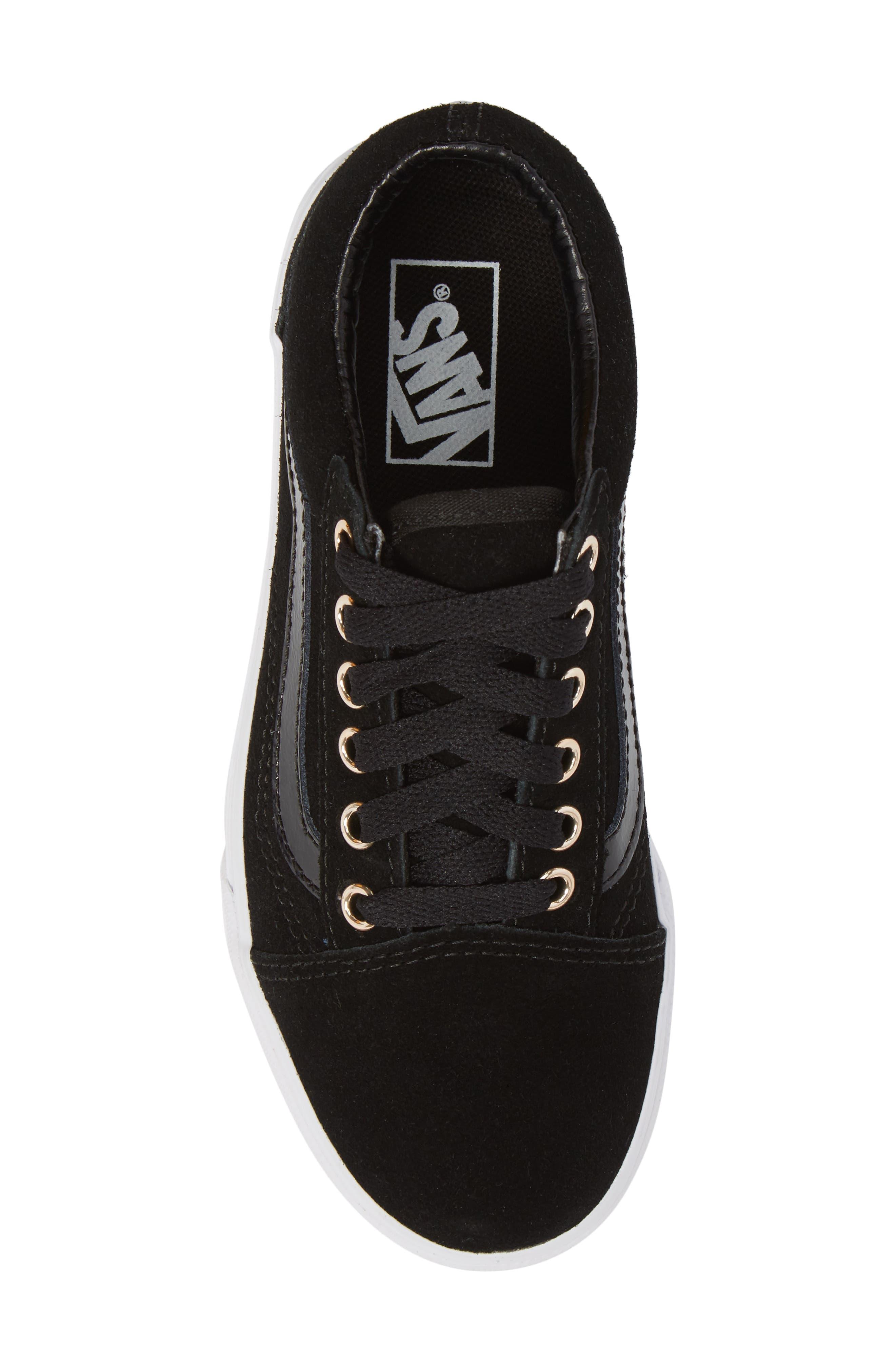 Old Skool Sneaker,                             Alternate thumbnail 5, color,                             Black/ Gold