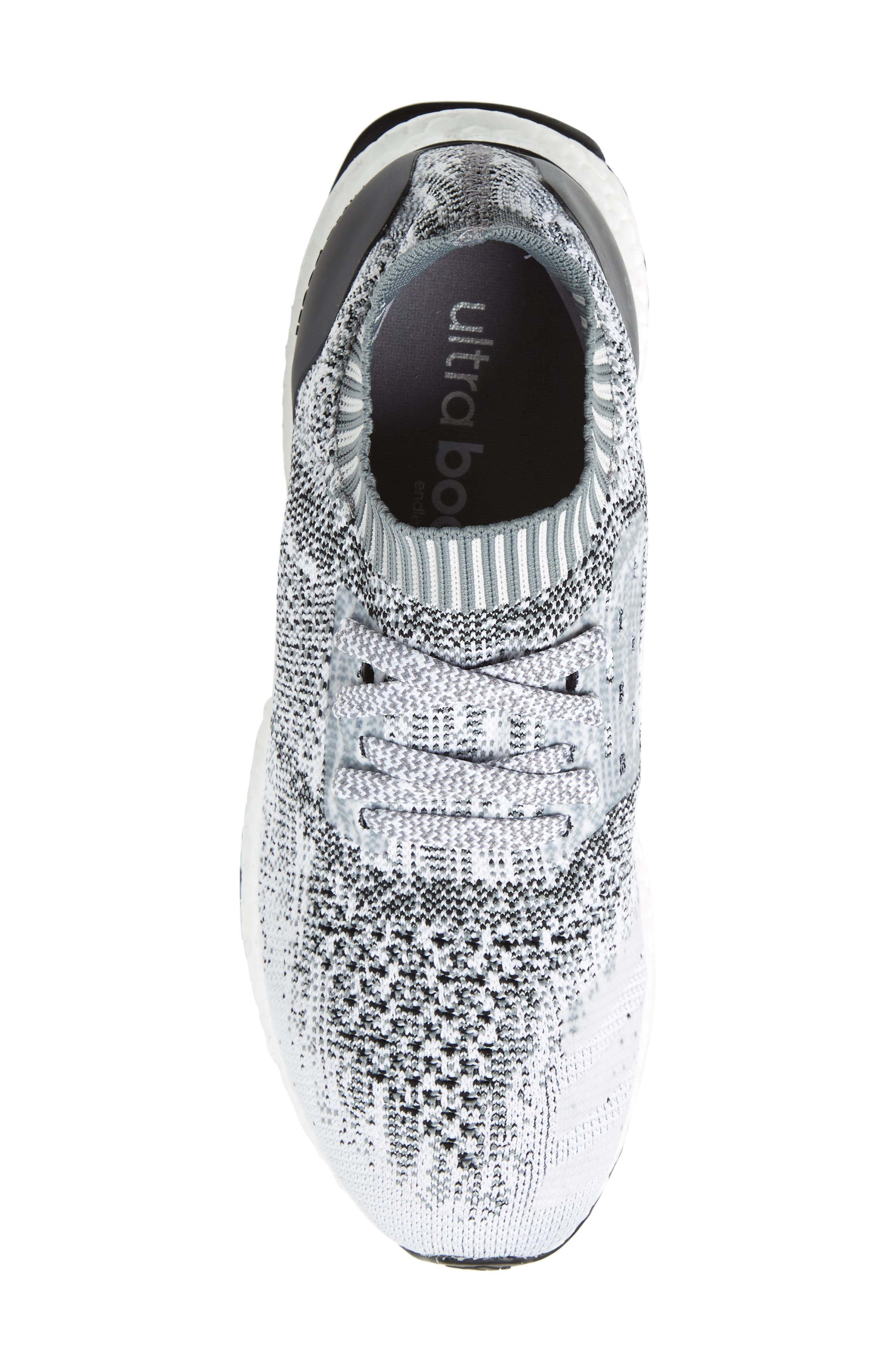 'UltraBoost Uncaged' Running Shoe,                             Alternate thumbnail 5, color,                             White/ White/ Grey