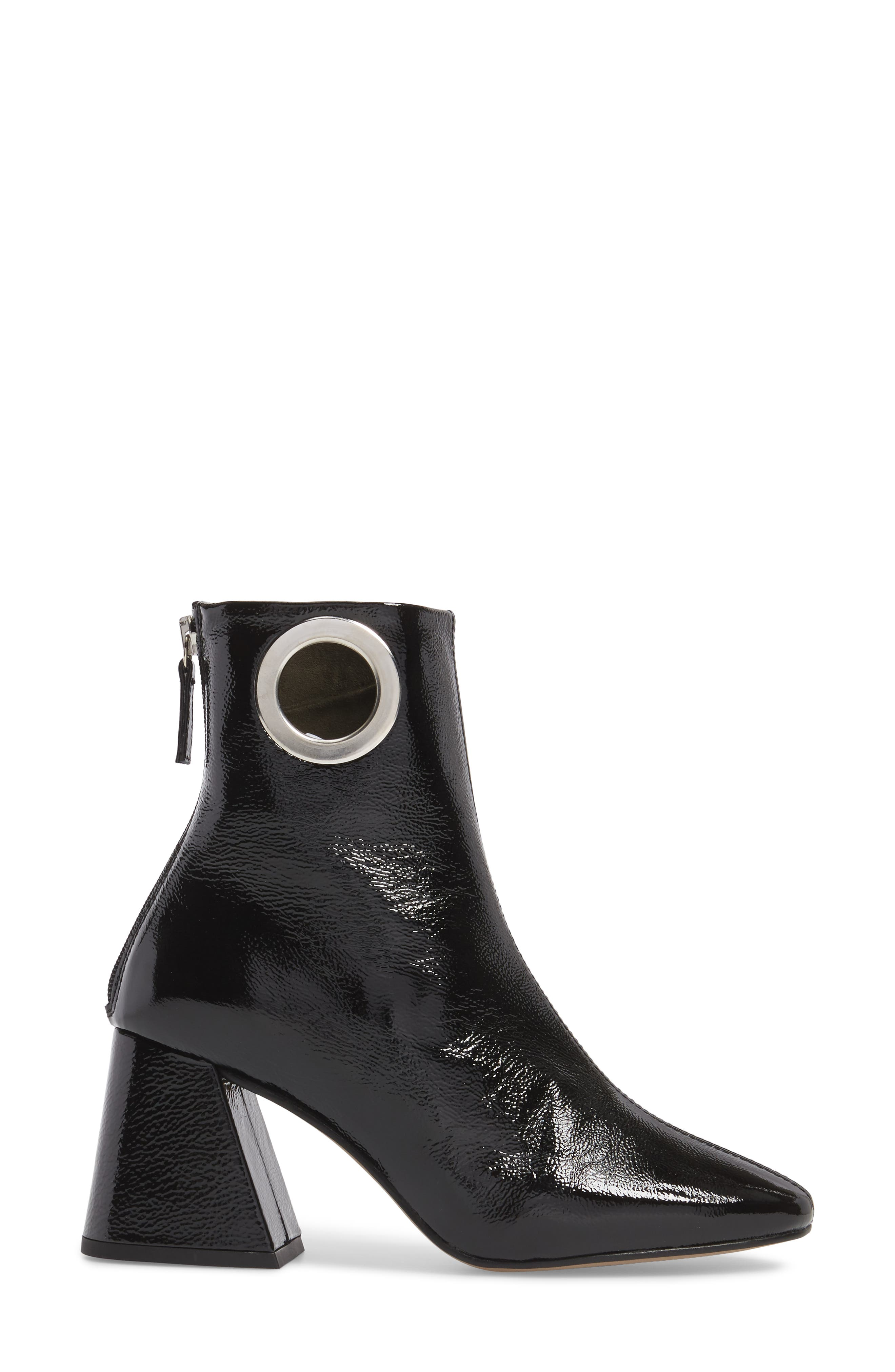 Malone Block Heel Bootie,                             Alternate thumbnail 3, color,                             Black