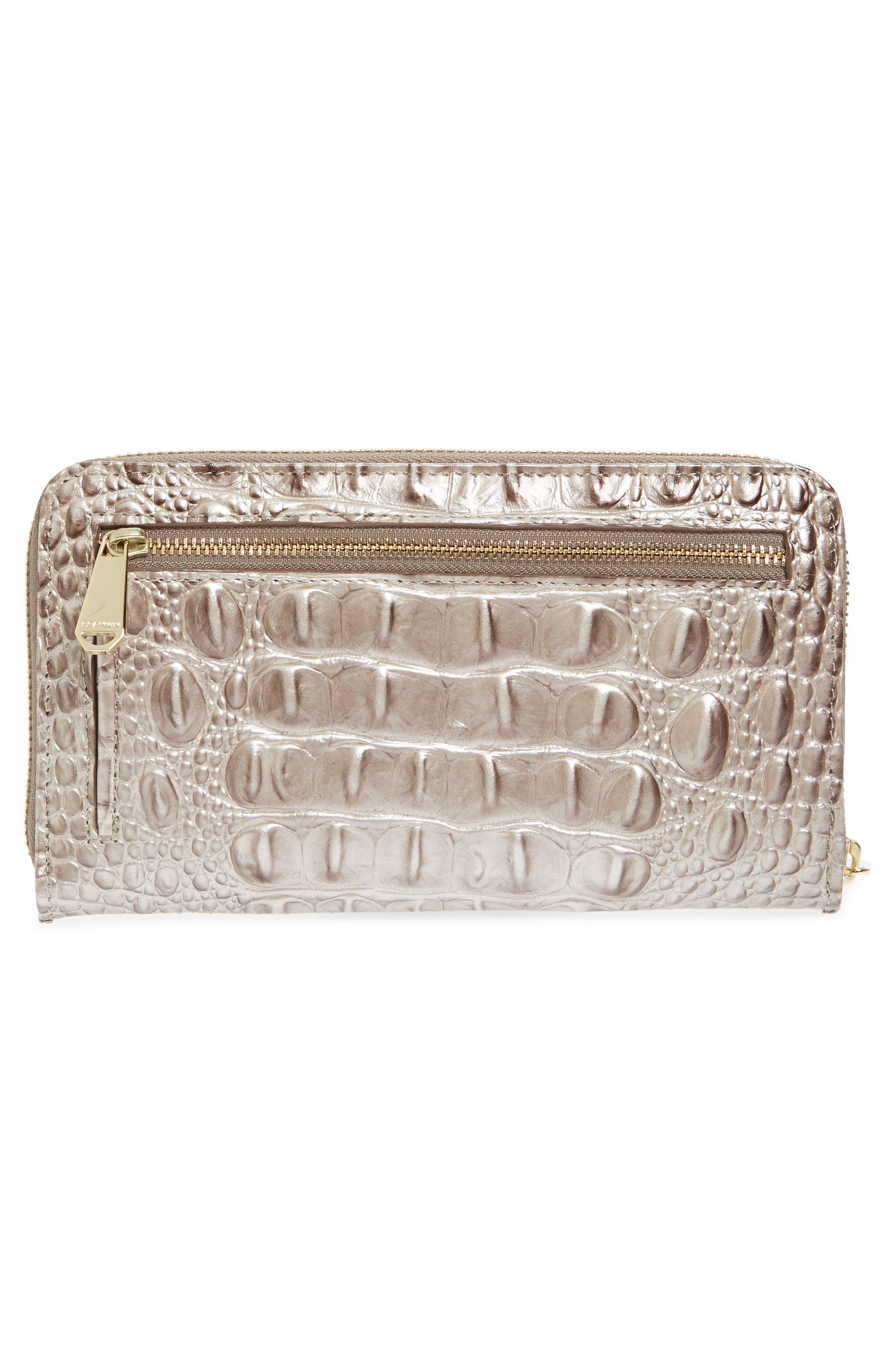 Suri Leather Zip Around Wallet,                             Alternate thumbnail 4, color,                             Chardonnay