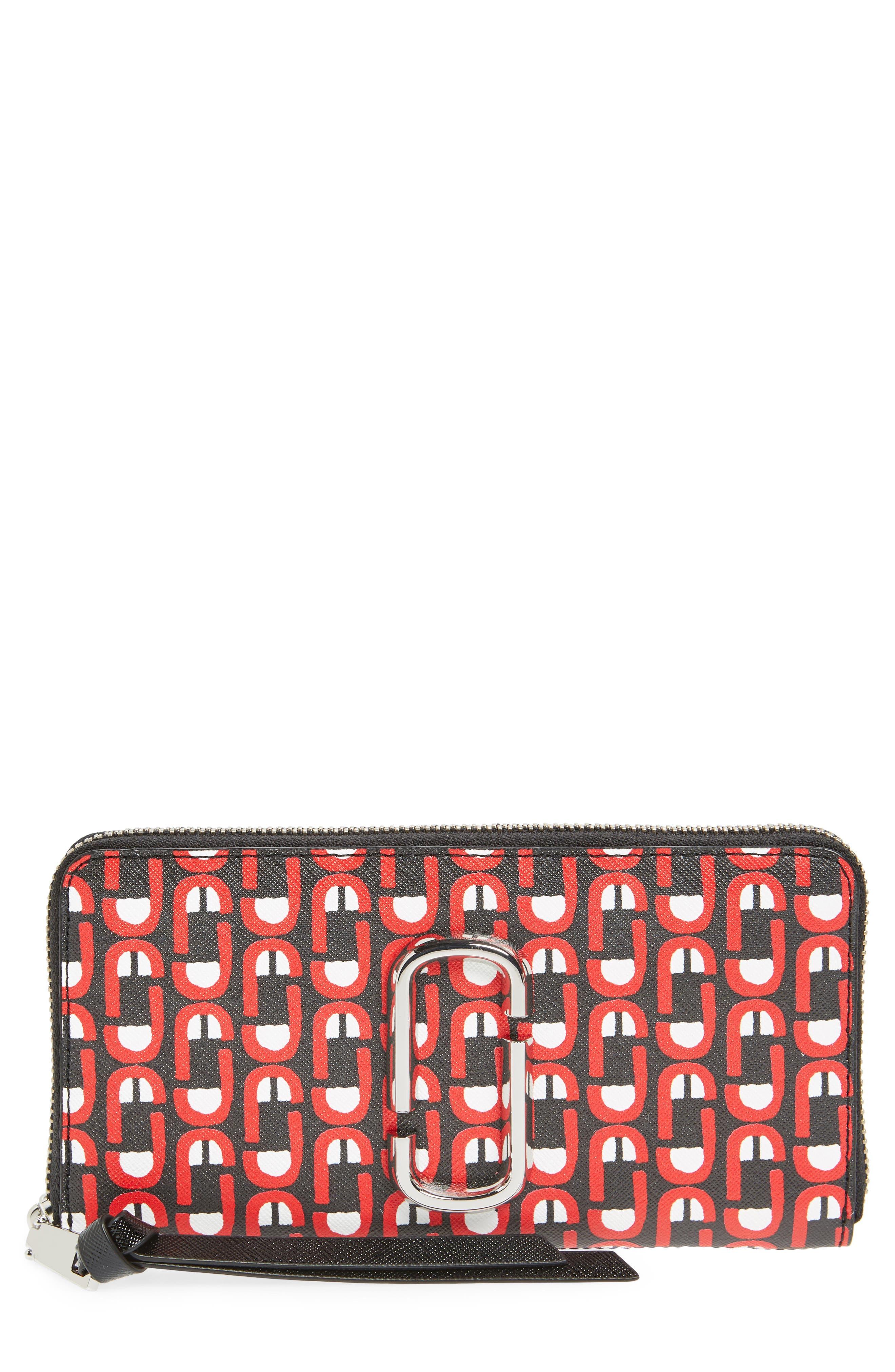Snapshot Scream Zip Wallet,                             Main thumbnail 1, color,                             Red Multi
