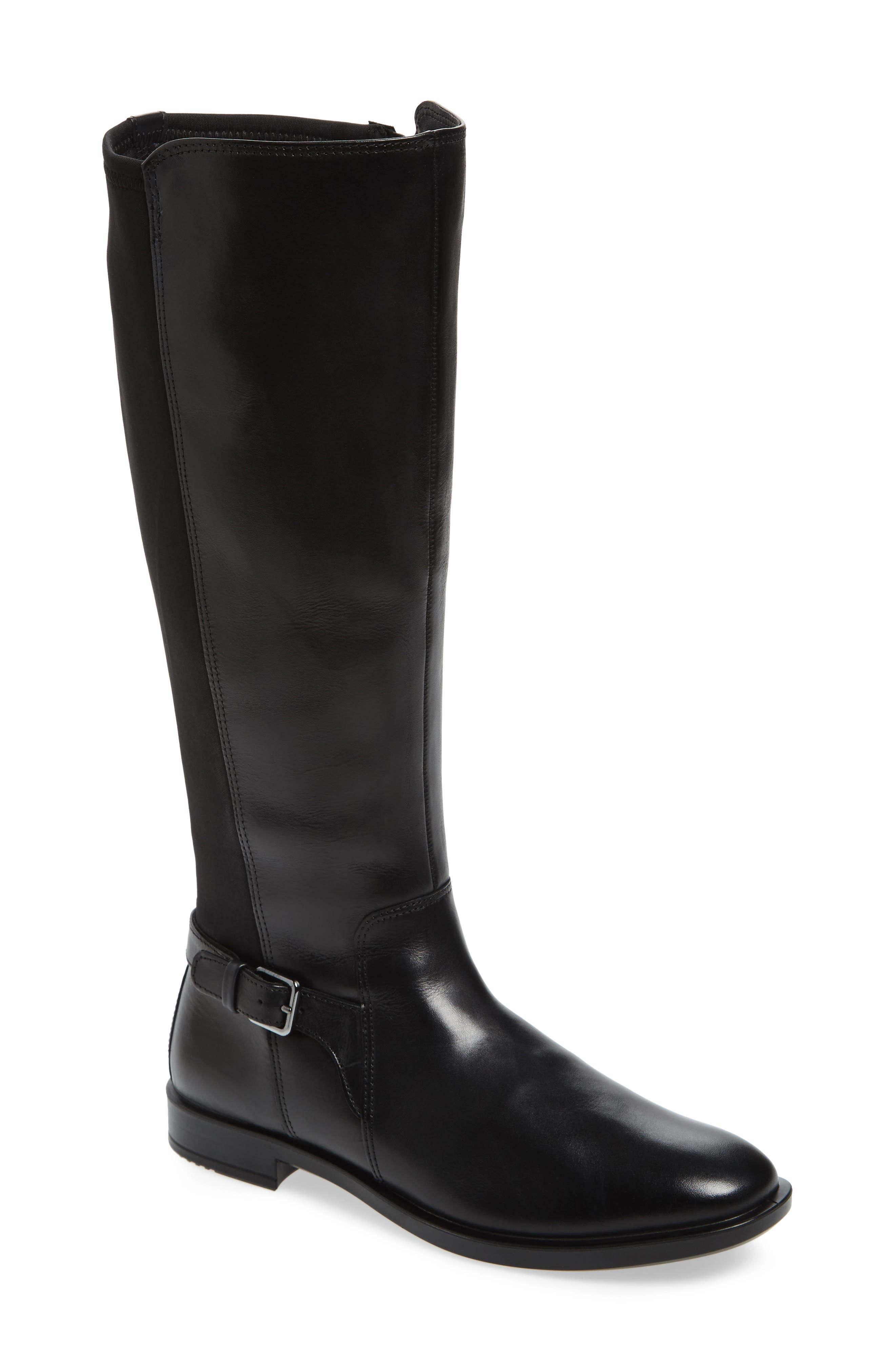 Shape 15 Stretch Shaft Riding Boot,                         Main,                         color, Black Leather