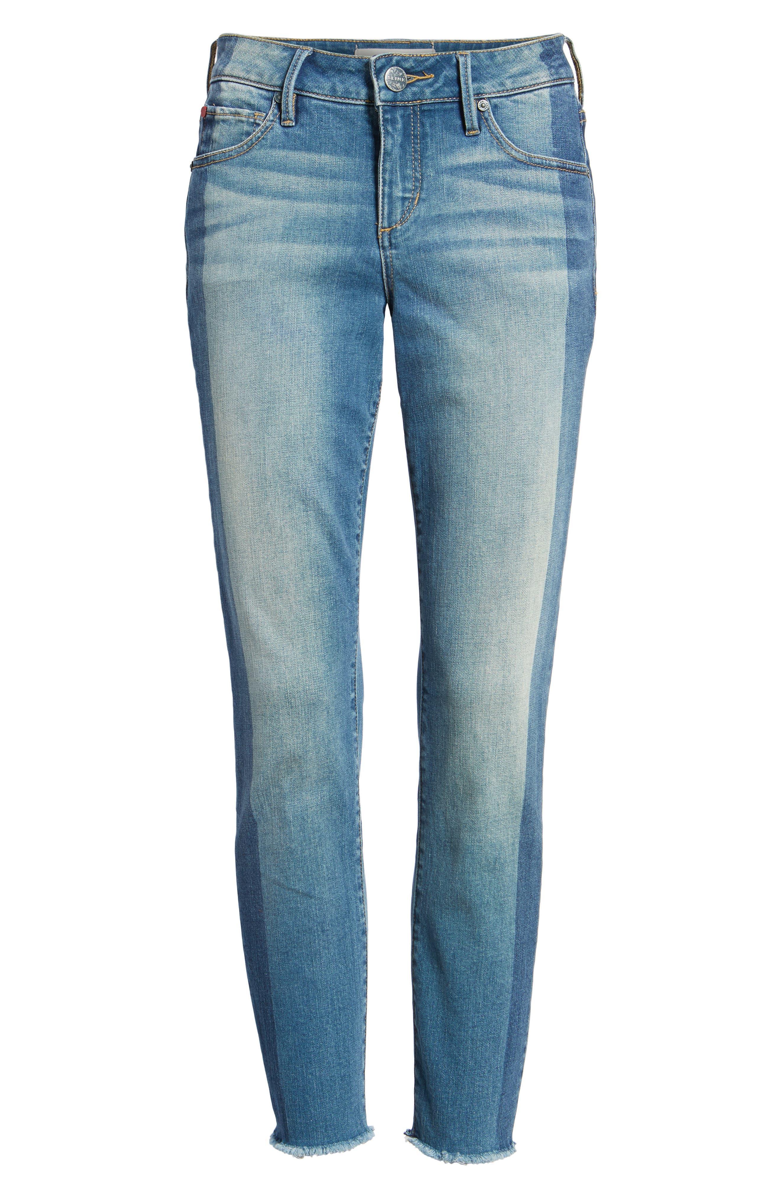 Frayed Hem Ankle Jeans,                             Alternate thumbnail 6, color,                             Gwen