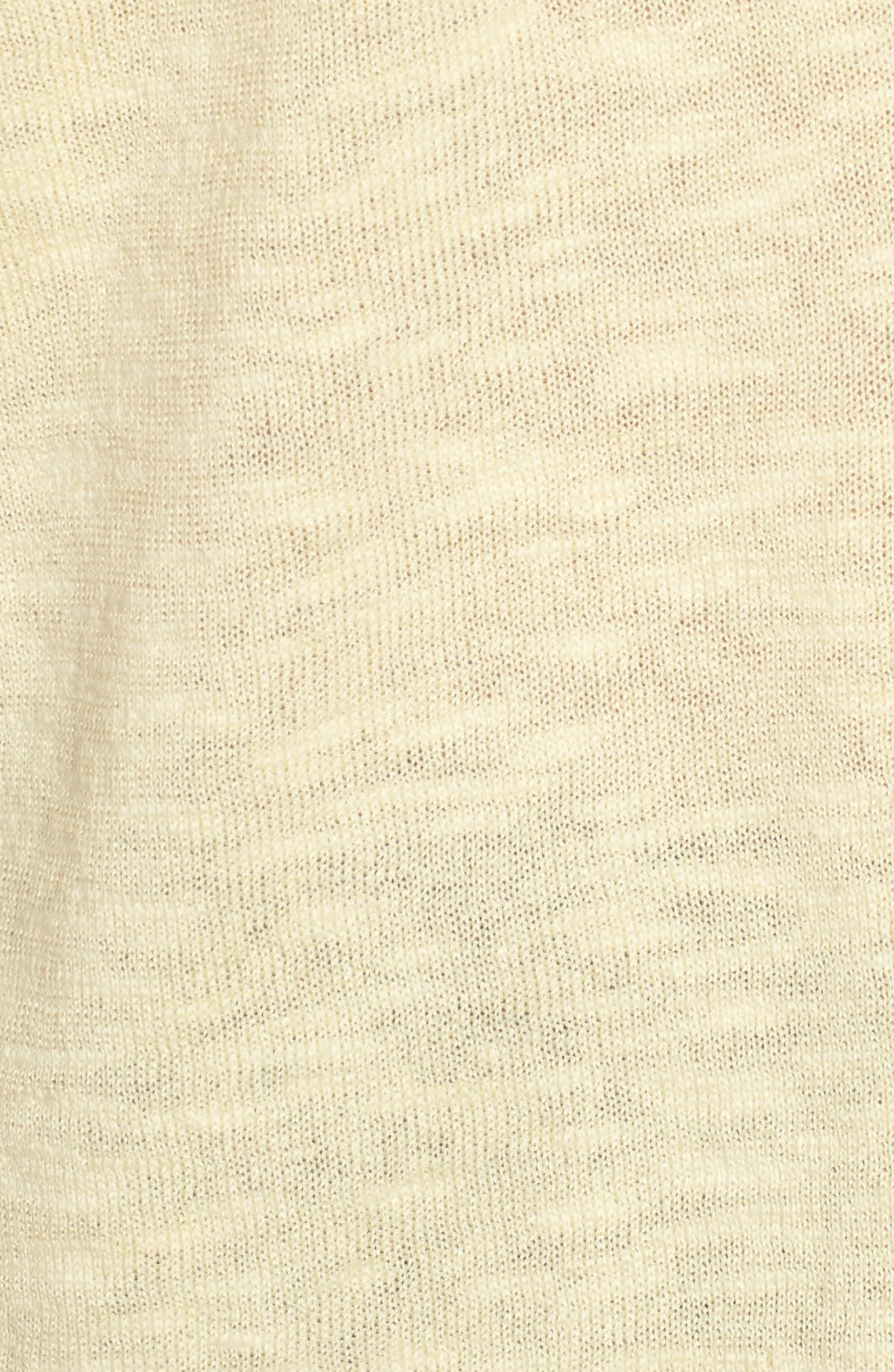Organic Linen & Cotton Sweater,                             Alternate thumbnail 5, color,                             Flaxen