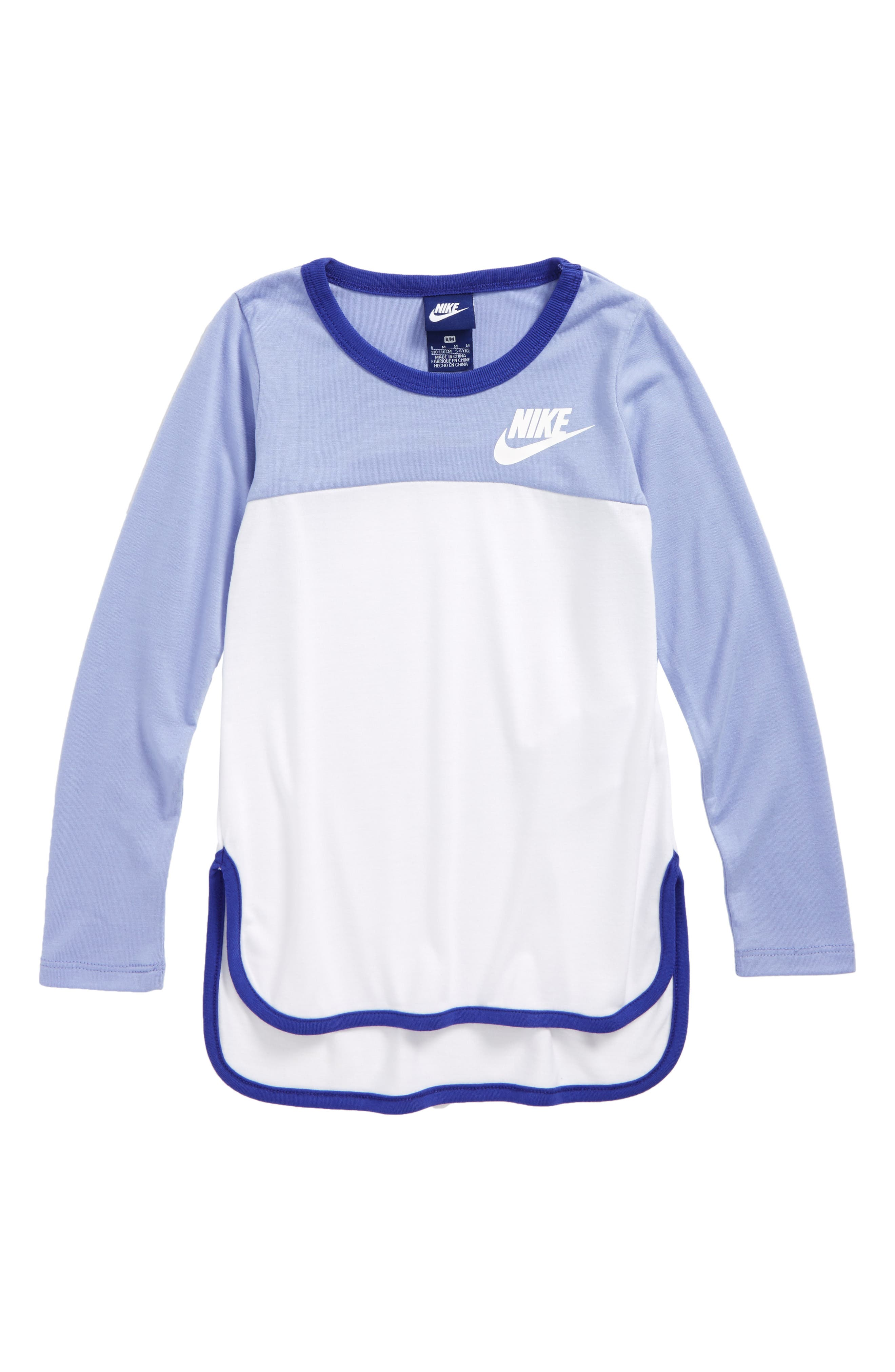 Nike Color Block Long Sleeve Tee (Toddler Girls & Little Girls)