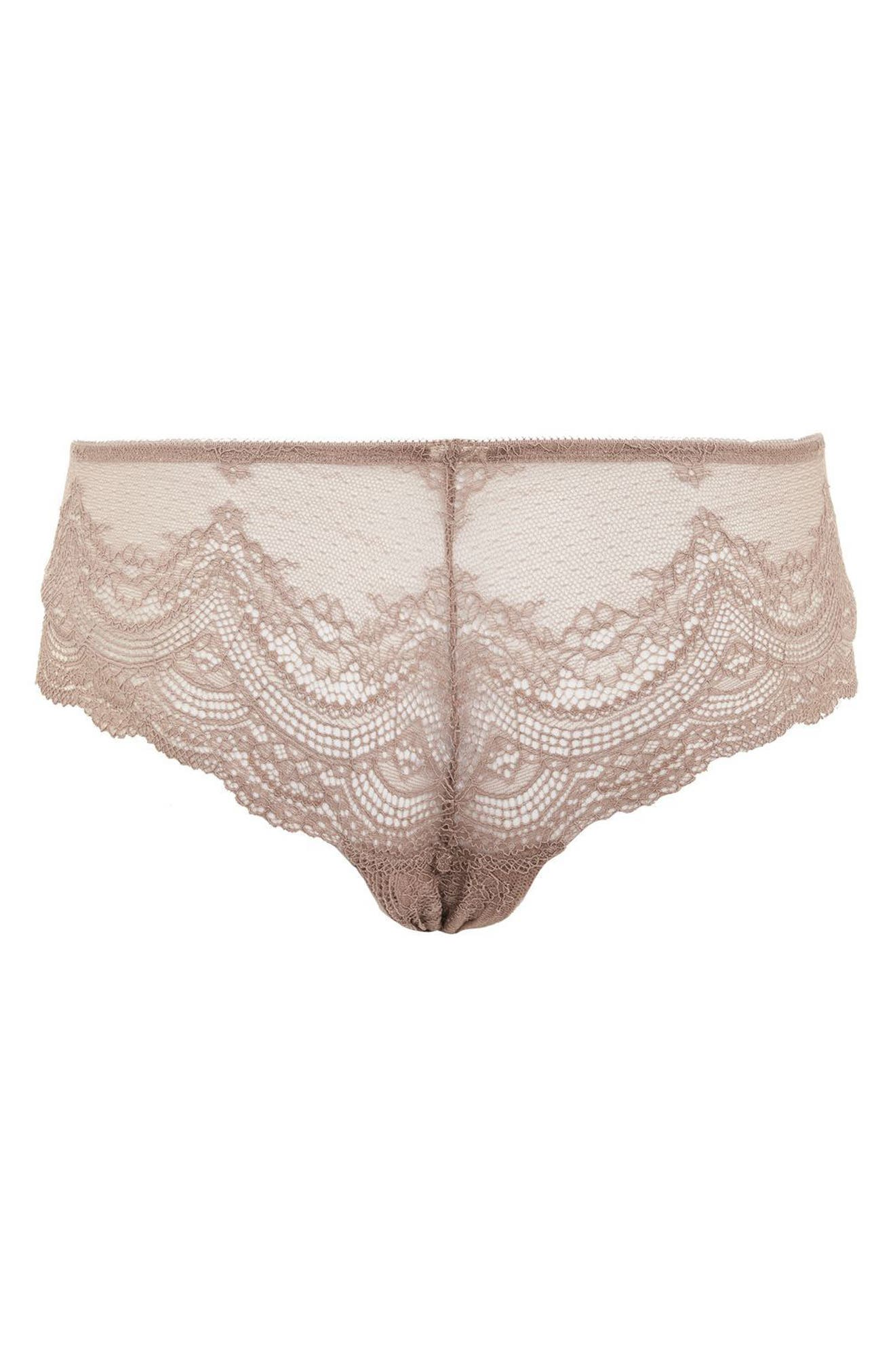 Alternate Image 2  - Topshop Deep Lace Brazilian Panties