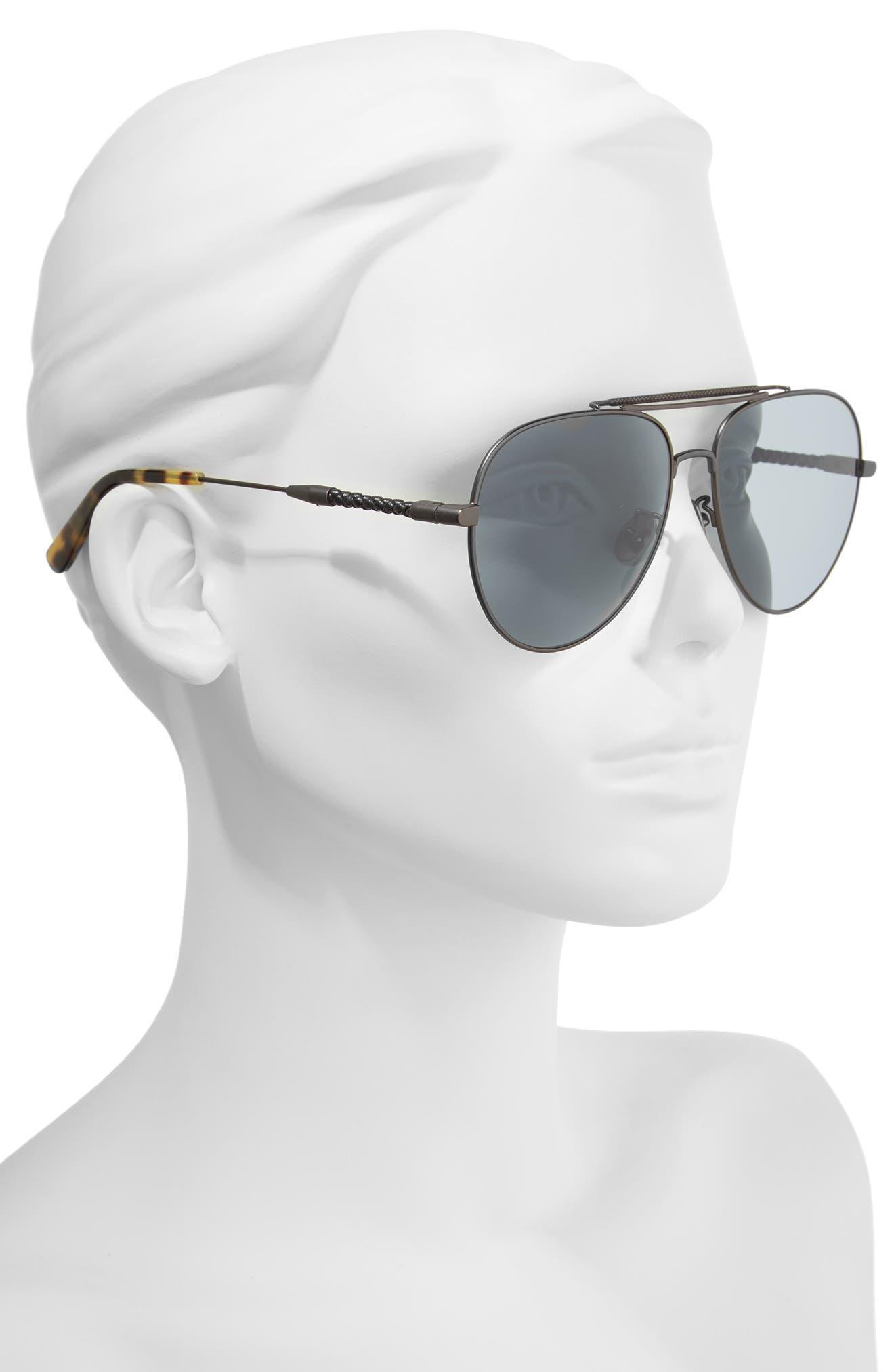 59m Polarized Aviator Sunglasses,                             Alternate thumbnail 2, color,                             Ruthenium