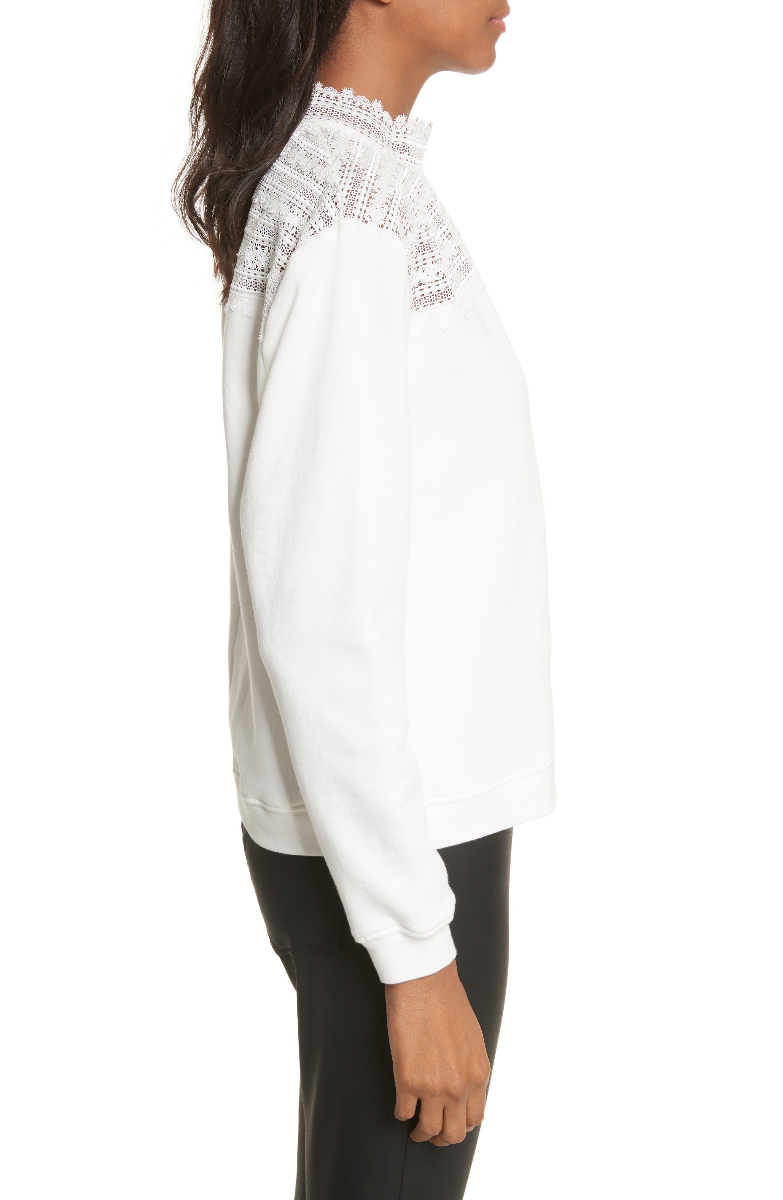 Alternate Image 3  - The Kooples Lace Yoke Sweater