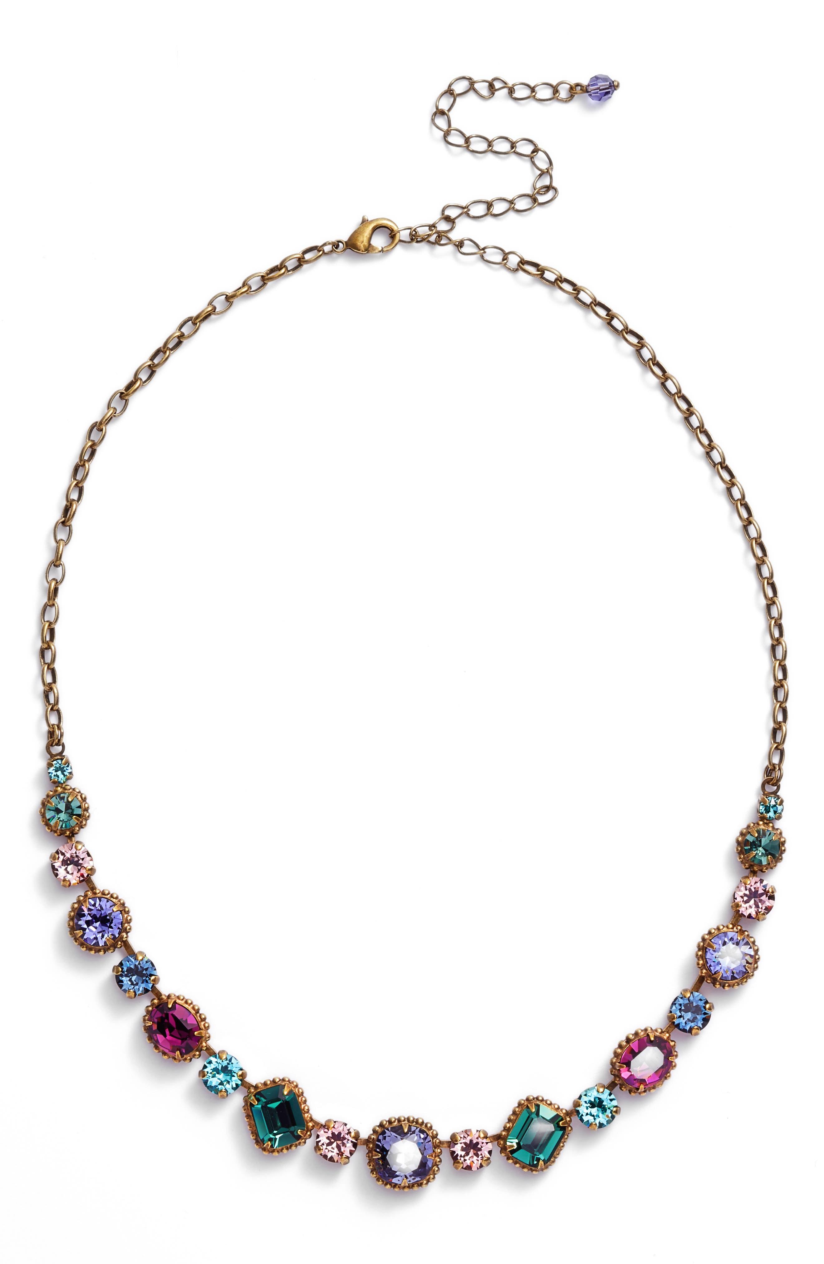 Embellished Elegance Necklace,                             Main thumbnail 1, color,                             Multi
