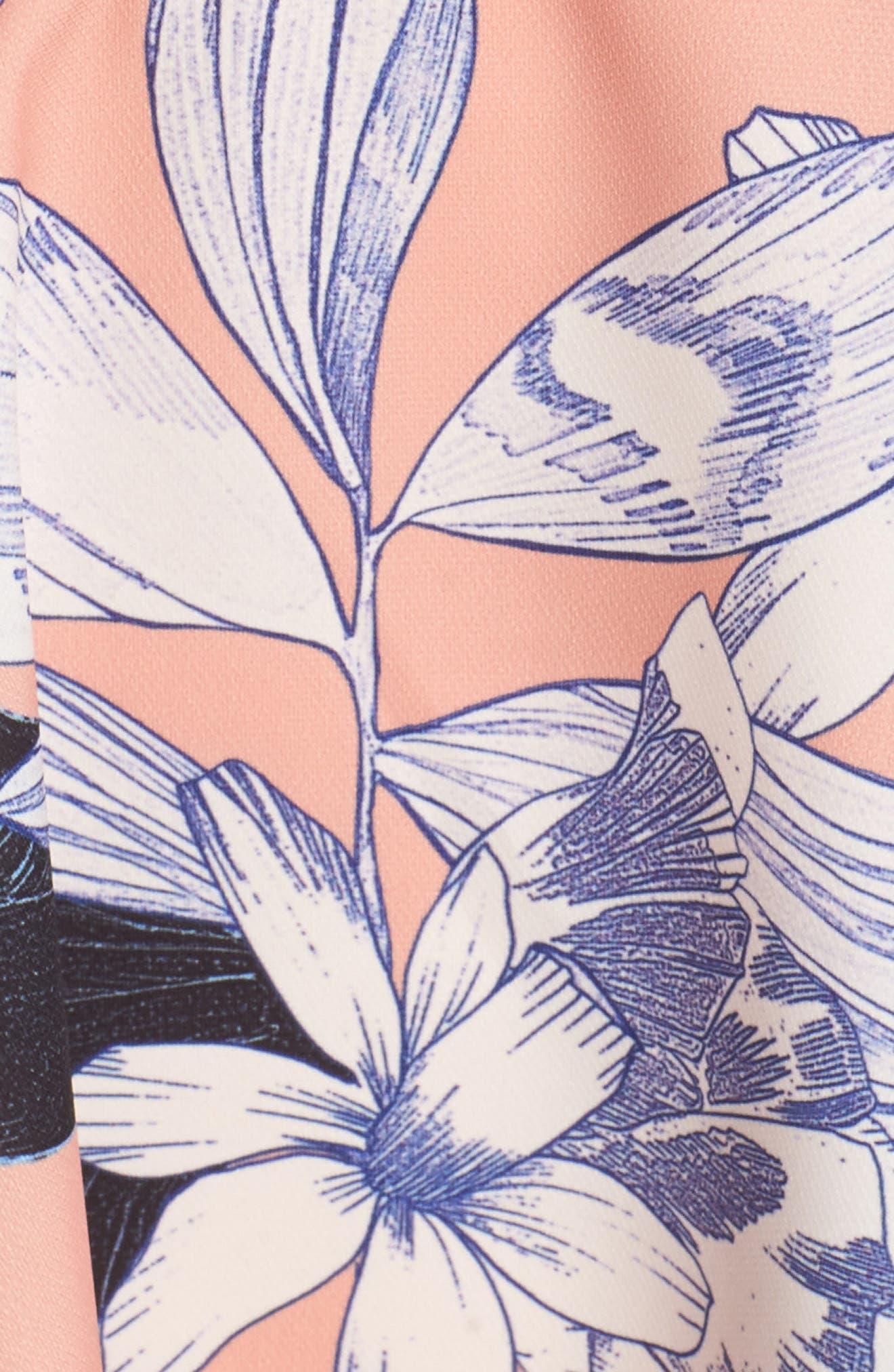 Dreamy Vines Minidress,                             Alternate thumbnail 5, color,                             Print