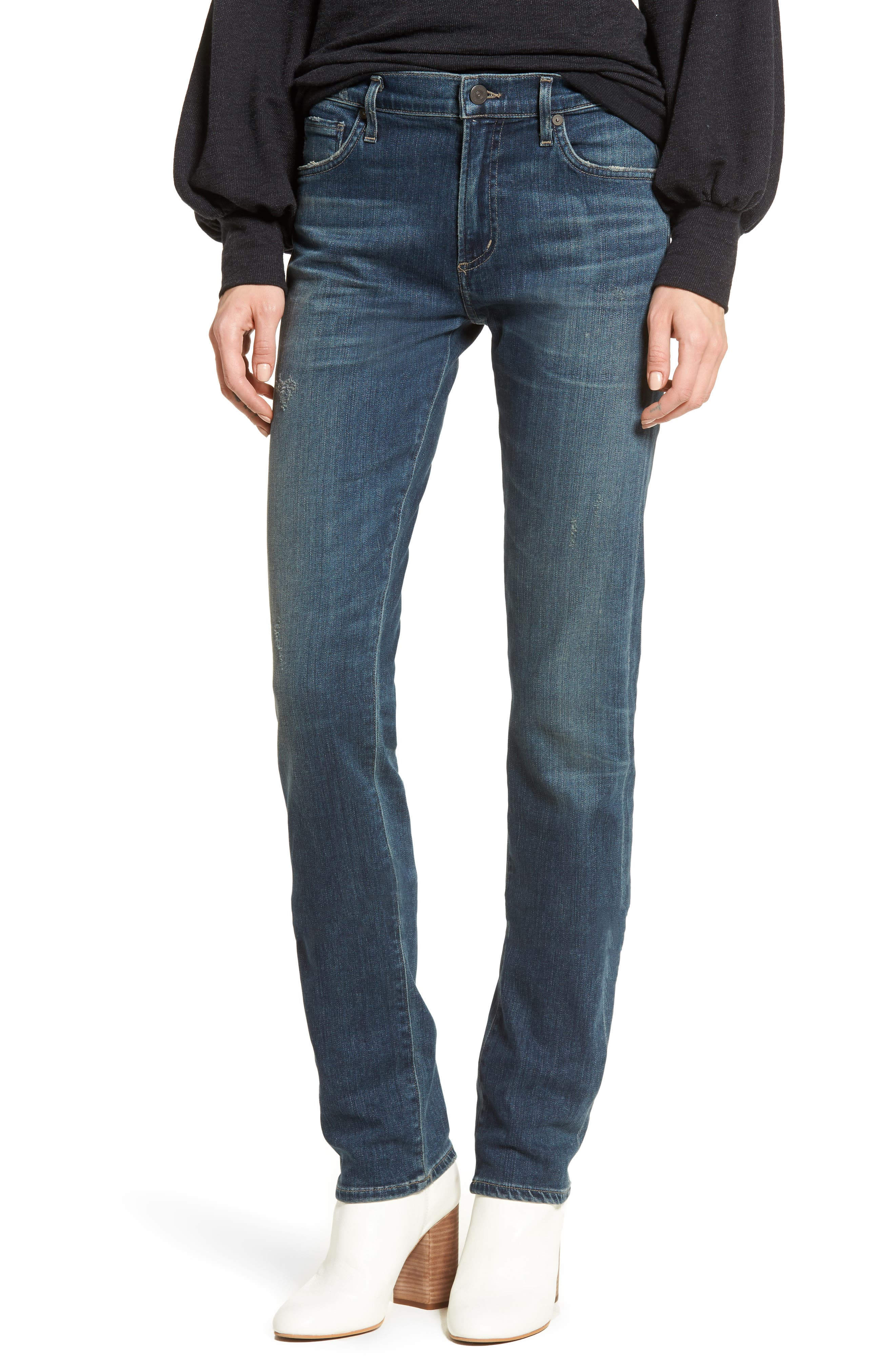 Agnes Long Jeans,                         Main,                         color, Delta Dawn