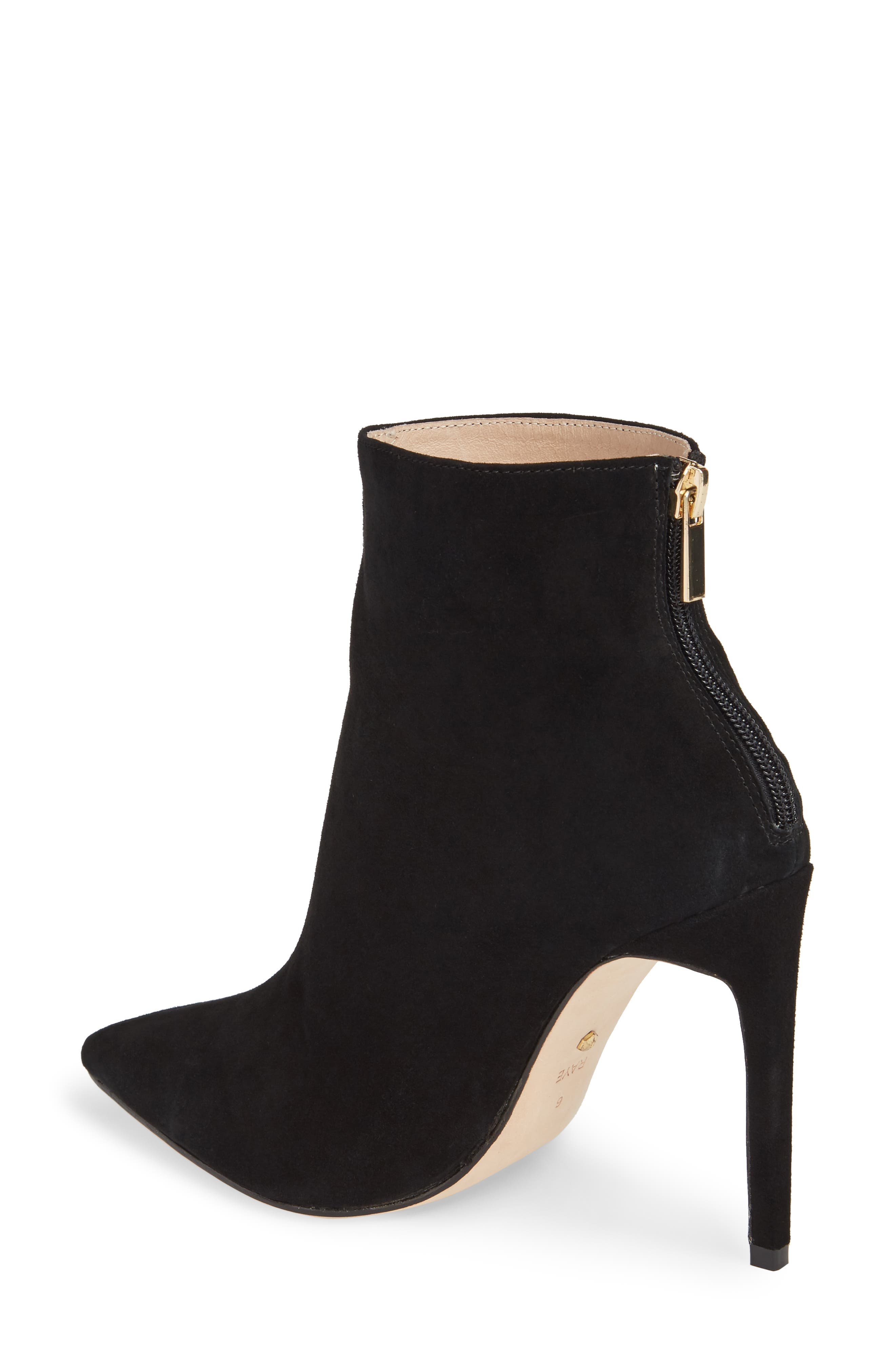 Tati Pointy Toe Bootie,                             Alternate thumbnail 2, color,                             Black Suede