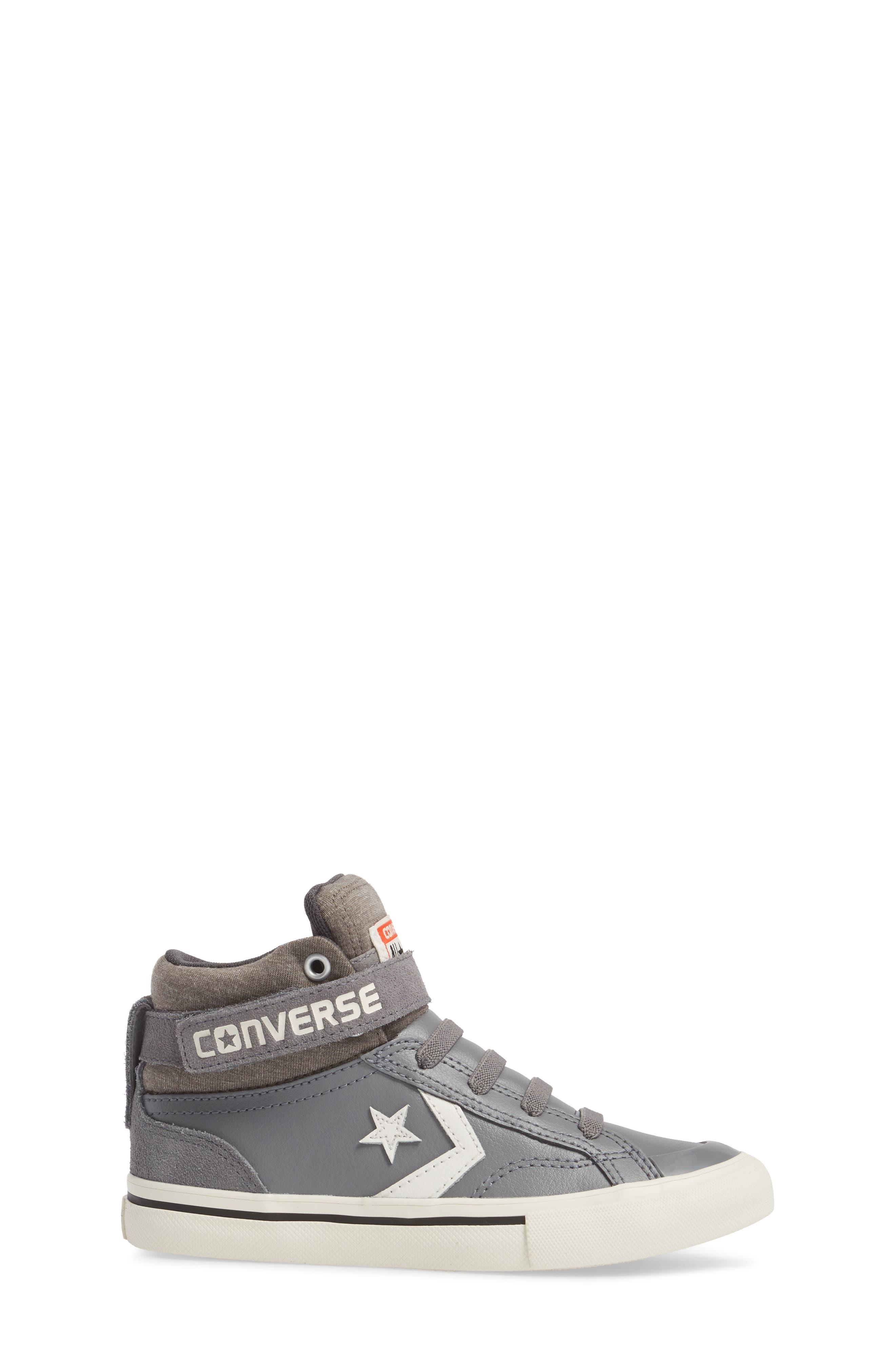 Pro Blaze High Top Sneaker,                             Alternate thumbnail 3, color,                             Mason Leather