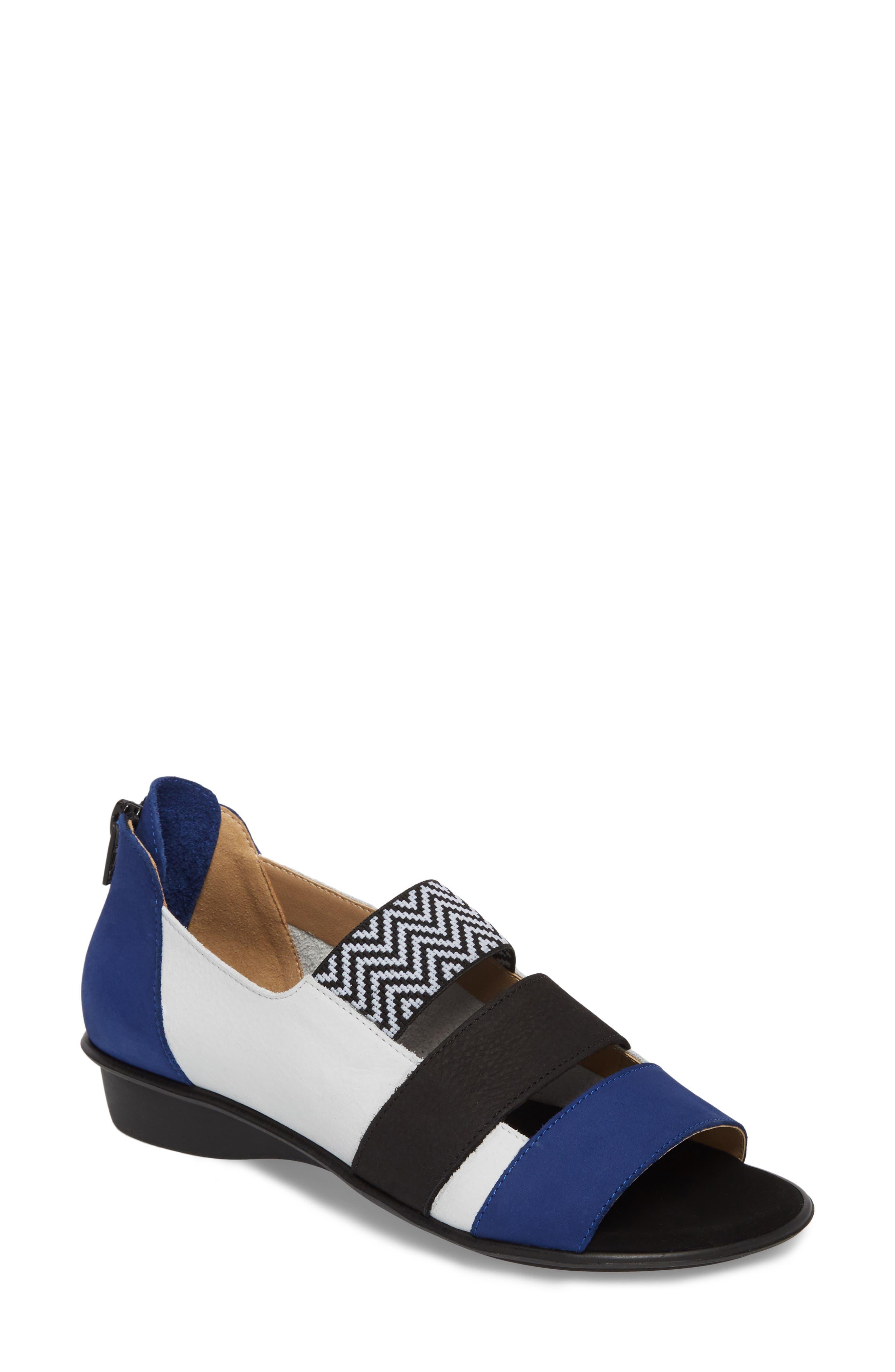 Elise Peep Toe Sandal,                         Main,                         color, White Soft Nubuck