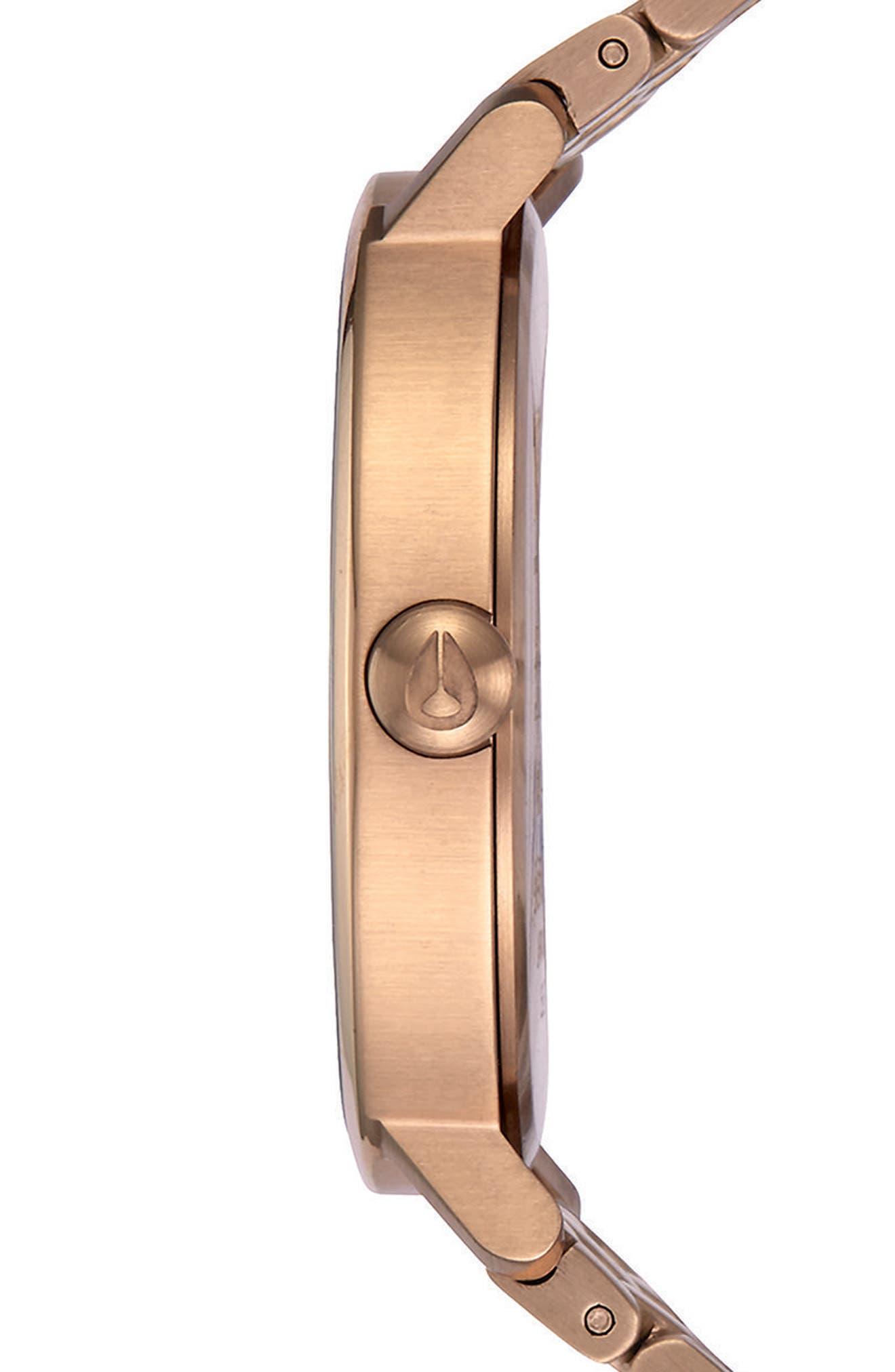The Arrow Bracelet Watch, 38mm,                             Alternate thumbnail 3, color,                             Rose Gold/ White/ Rose Gold