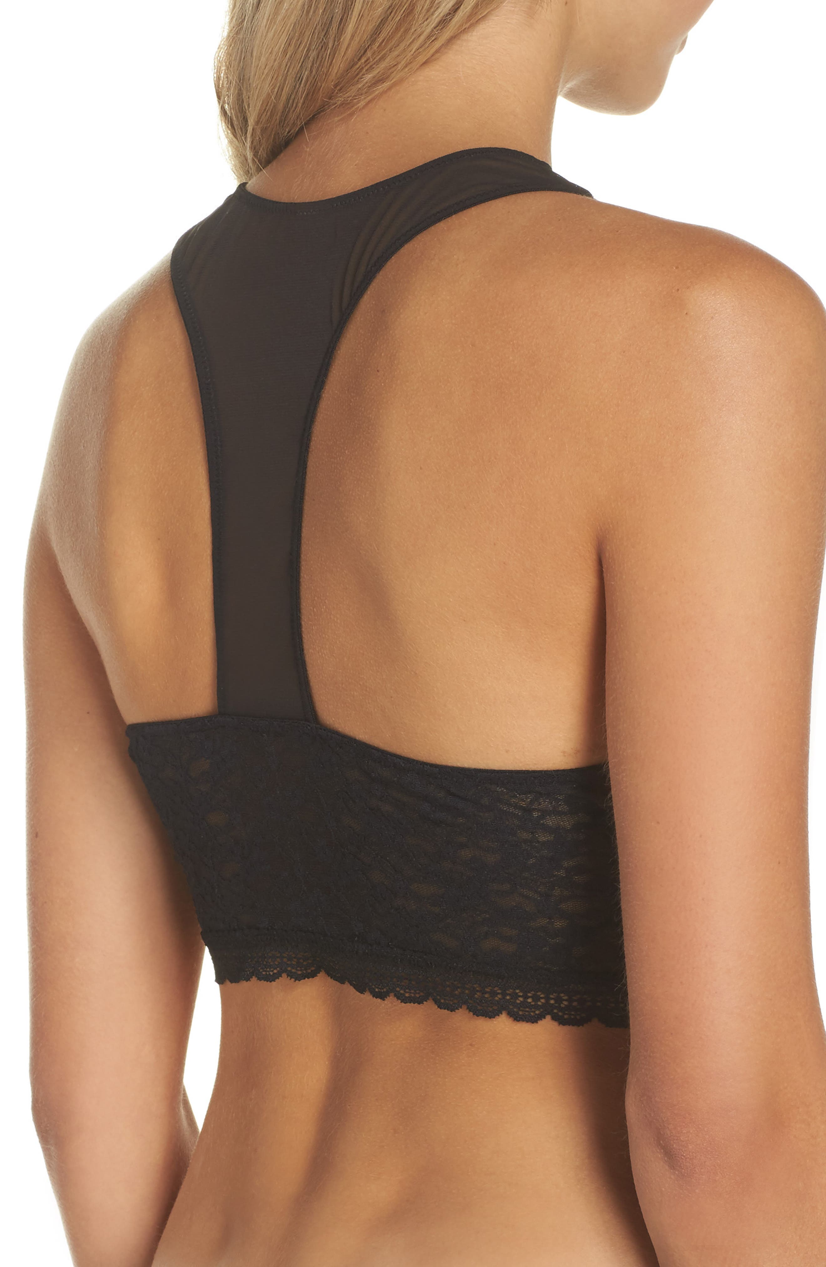 Intimately FP Stay With Me Longline Bralette,                             Alternate thumbnail 2, color,                             Black