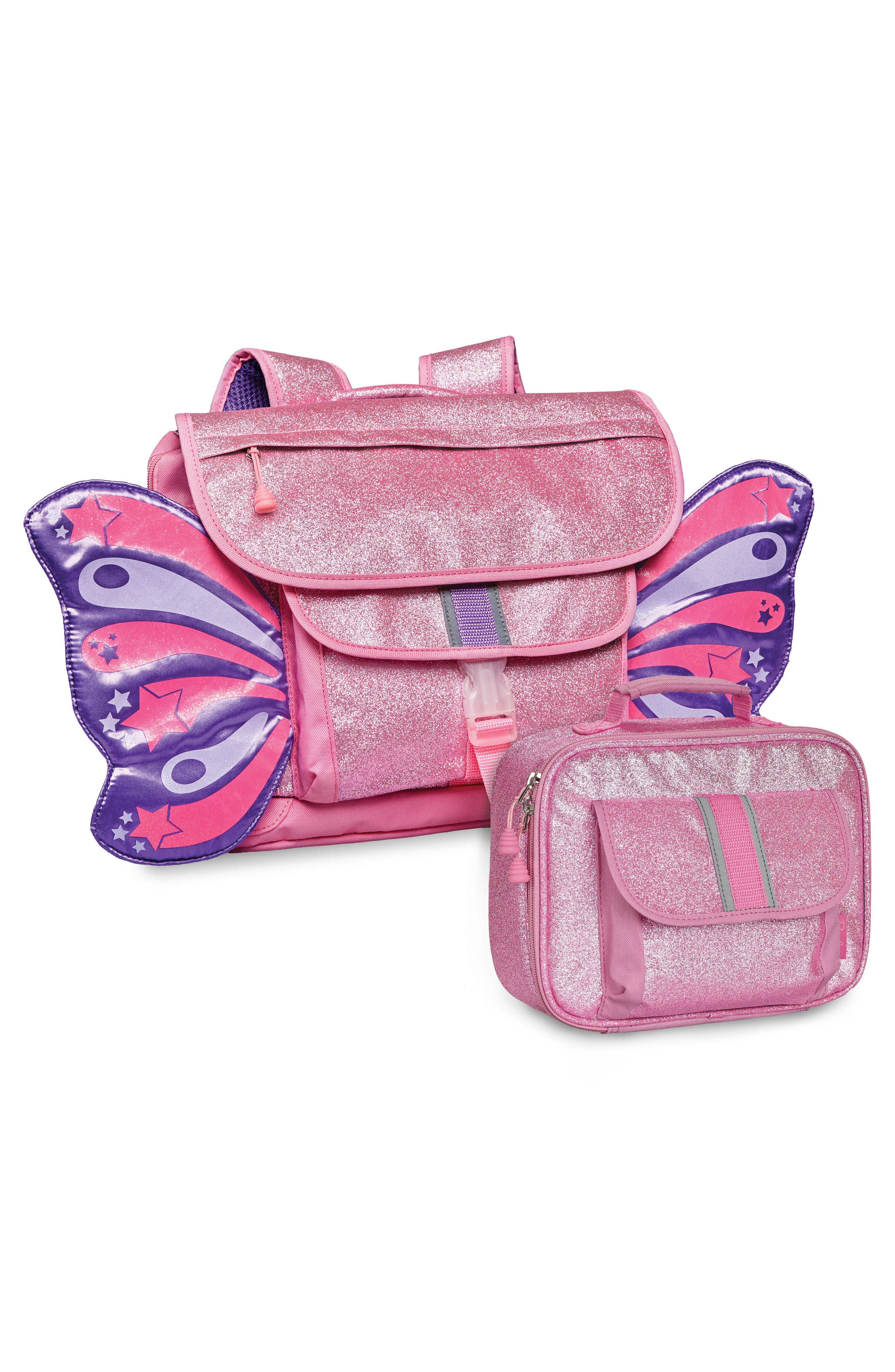 Sparkalicious Butterflyer Backpack,                             Alternate thumbnail 3, color,                             Pink