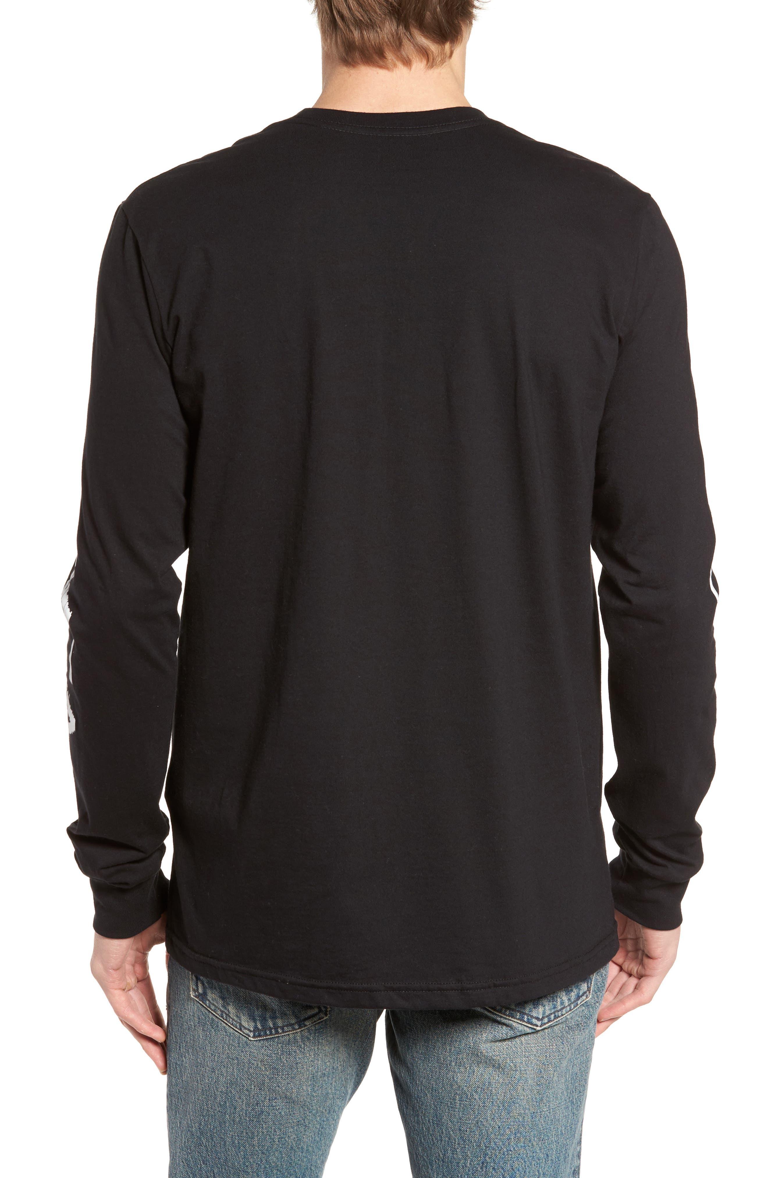 Glitch Logo T-Shirt,                             Alternate thumbnail 2, color,                             Black