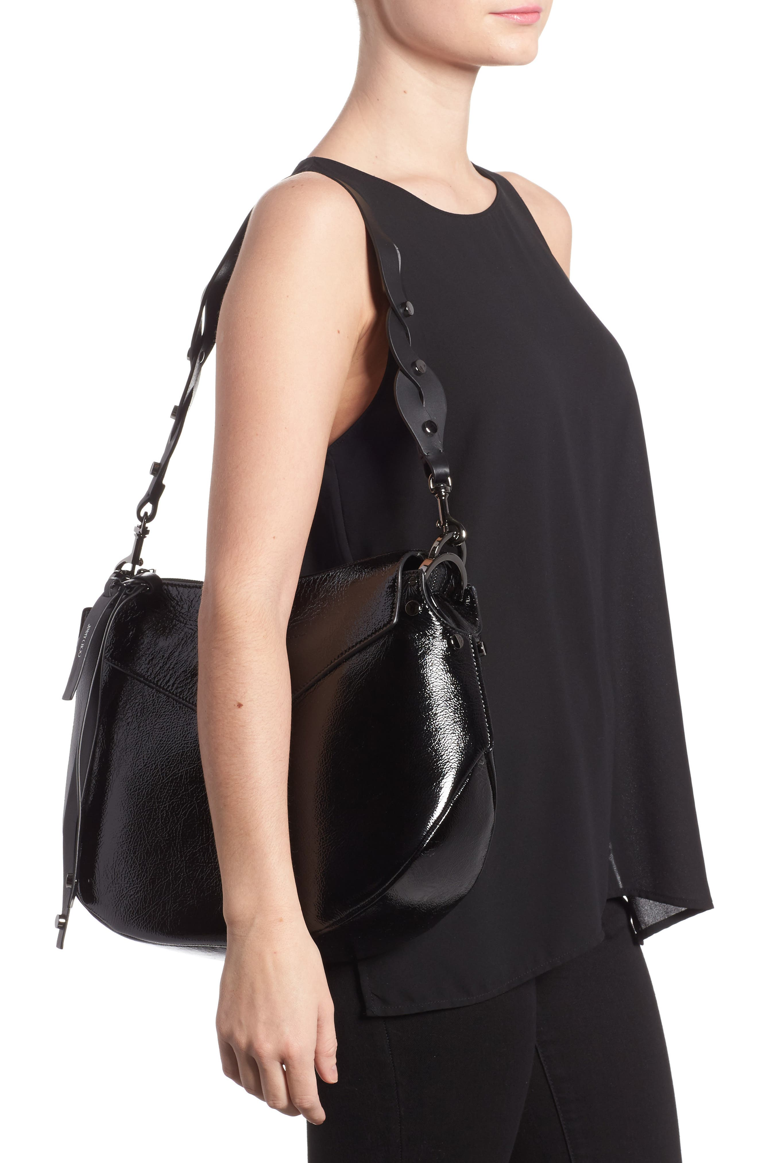 Alternate Image 2  - Jimmy Choo Artie Textured Leather Hobo