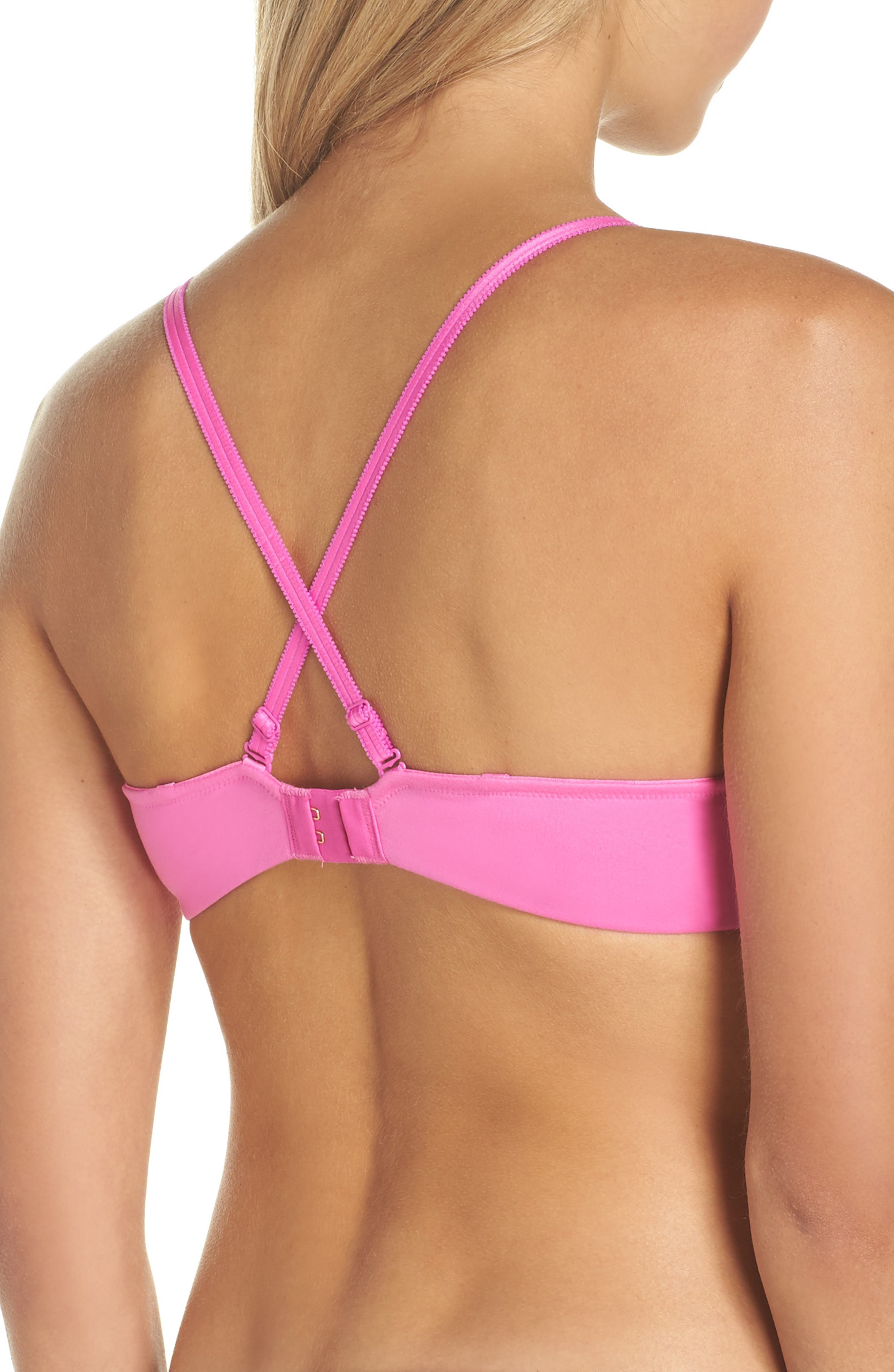 Flirt & Fun Underwire Push-Up Bra,                             Alternate thumbnail 3, color,                             Pinky Promise