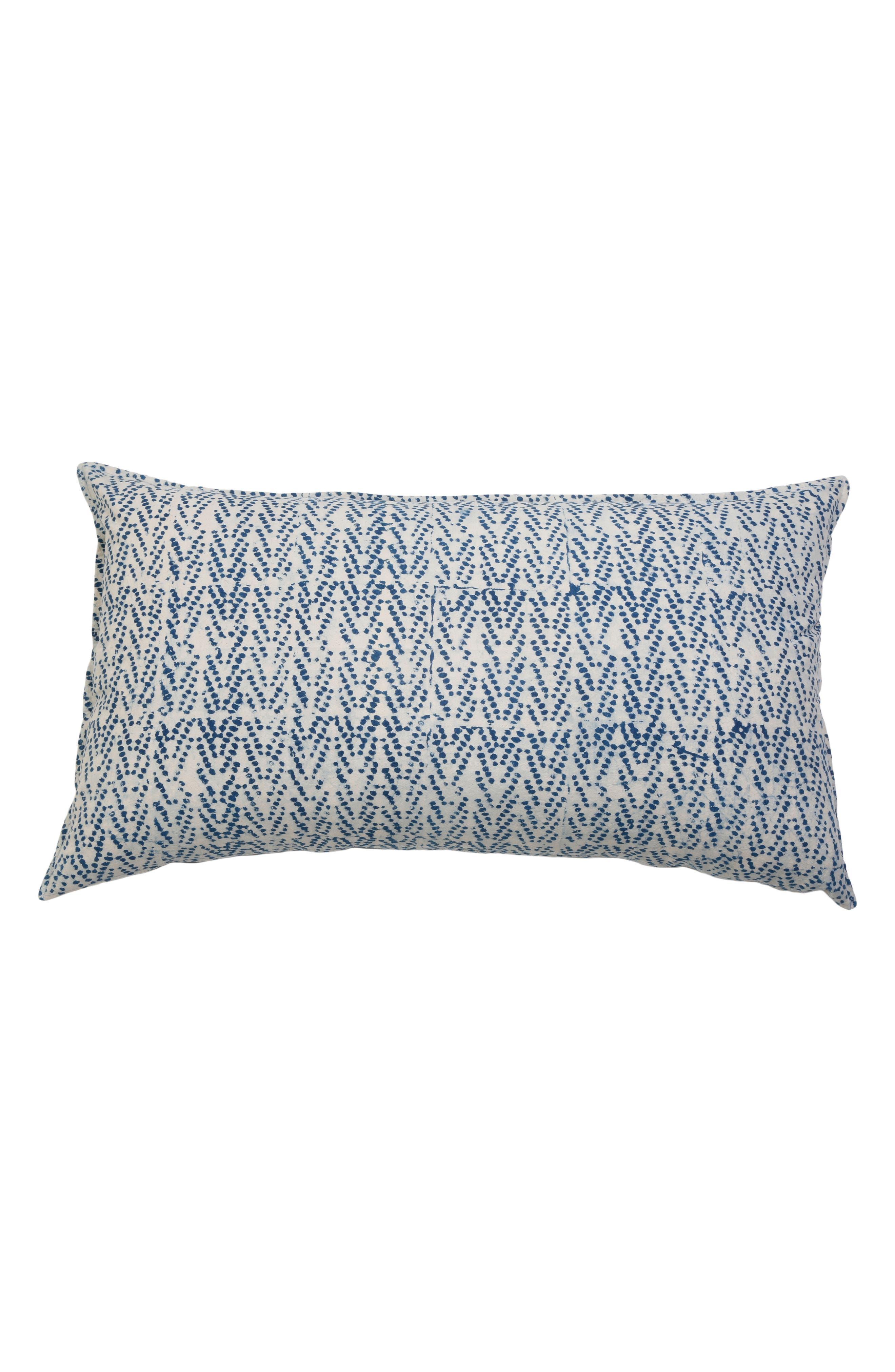 Indigo Dots Accent Pillow,                             Main thumbnail 1, color,                             Blue Multi