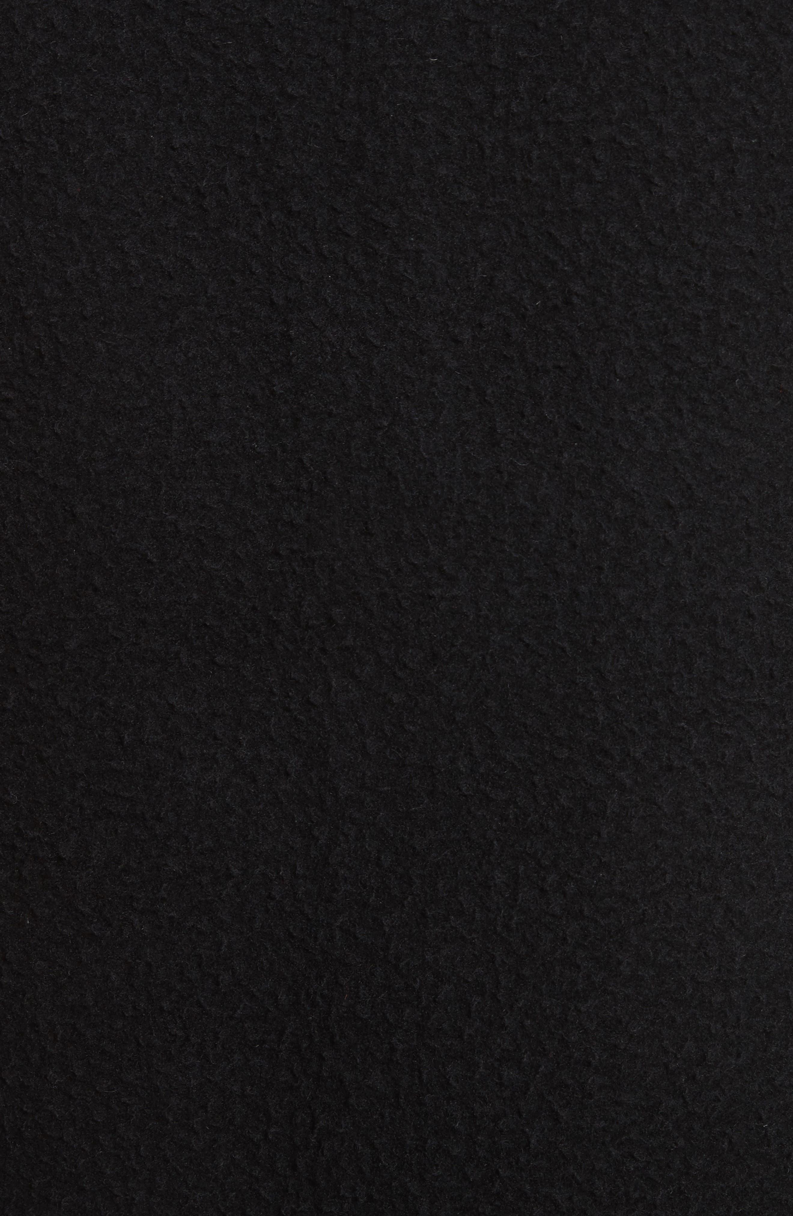 Elliott Boiled Wool Blend Jacket,                             Alternate thumbnail 5, color,                             Black