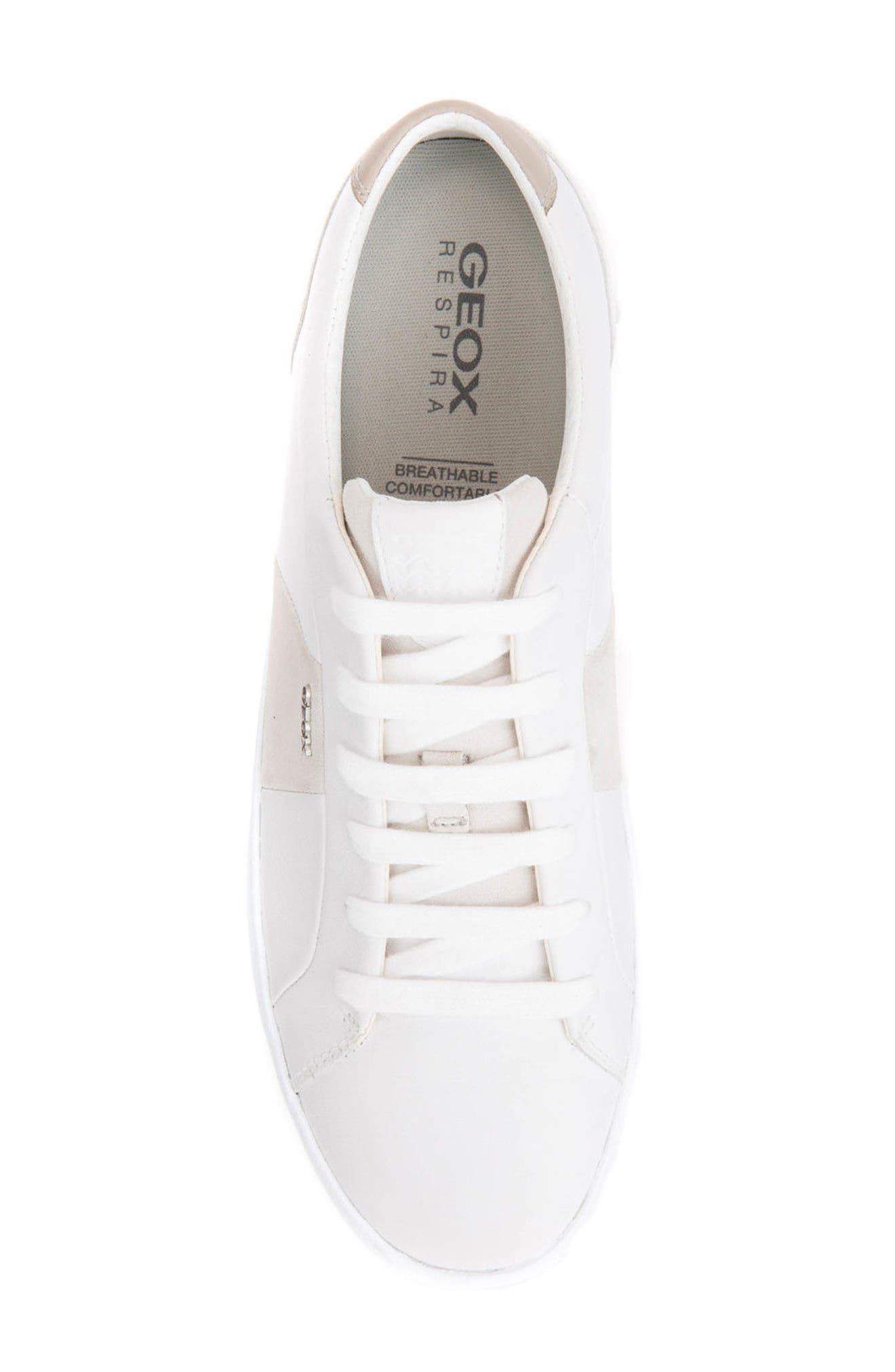 Smart 78 Sneaker,                             Alternate thumbnail 5, color,                             White/ Papyrus Leather